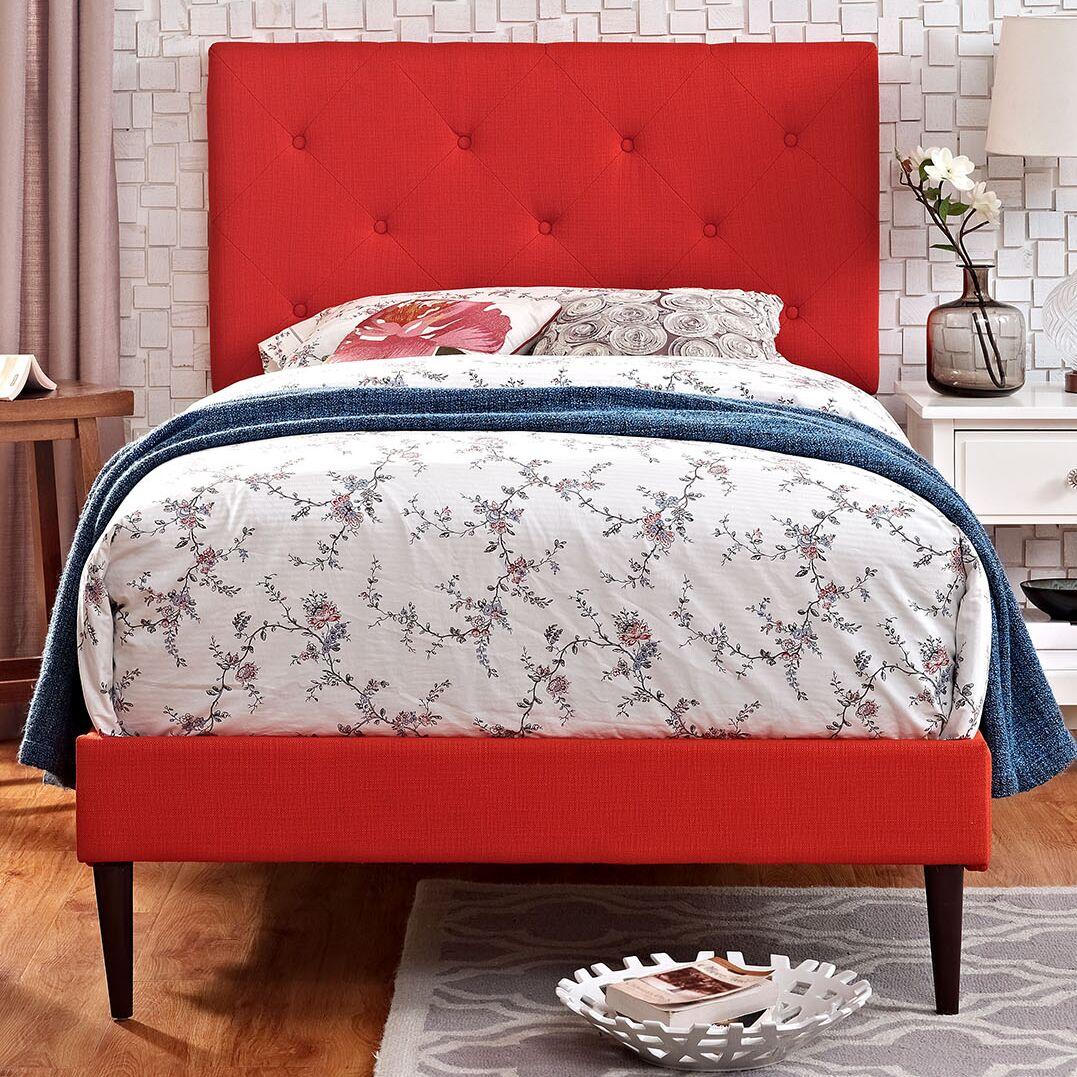 Ziemer Upholstered Platform Bed Size: Full, Color: Laguna