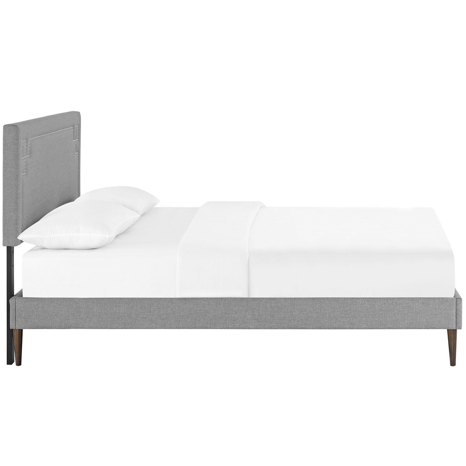 Kerley Upholstered Platform Bed Color: Light Gray, Size: Queen