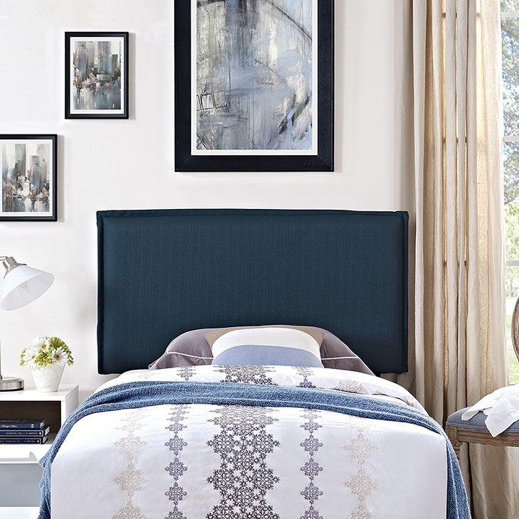Sardina Upholstered Panel Headboard Upholstery: Azure, Size: King