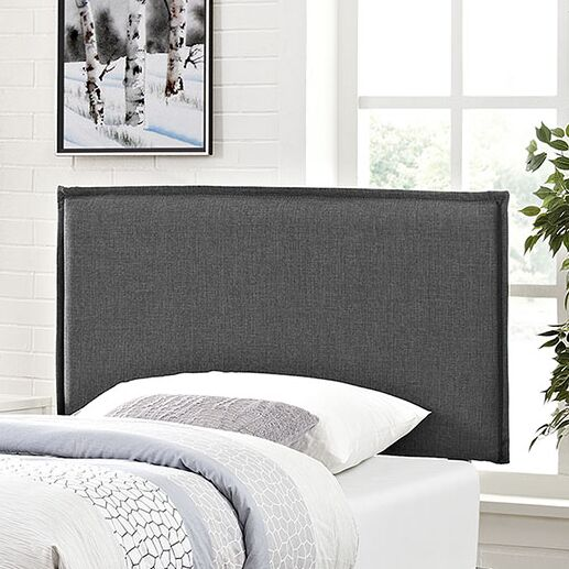 Sardina Upholstered Panel Headboard Upholstery: Gray, Size: Twin