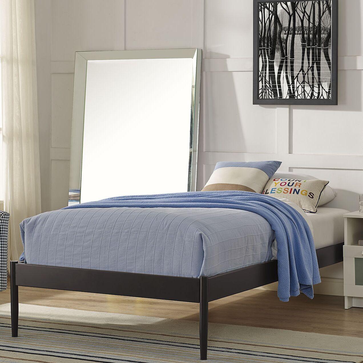 Elsie Bed Frame Color: White, Size: Full