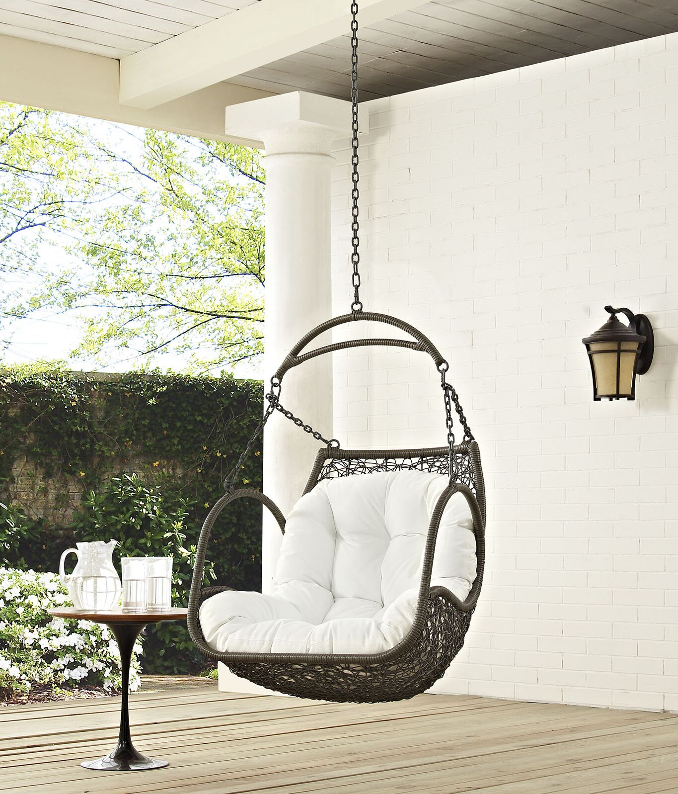 Arbor Swing Chair Color: White