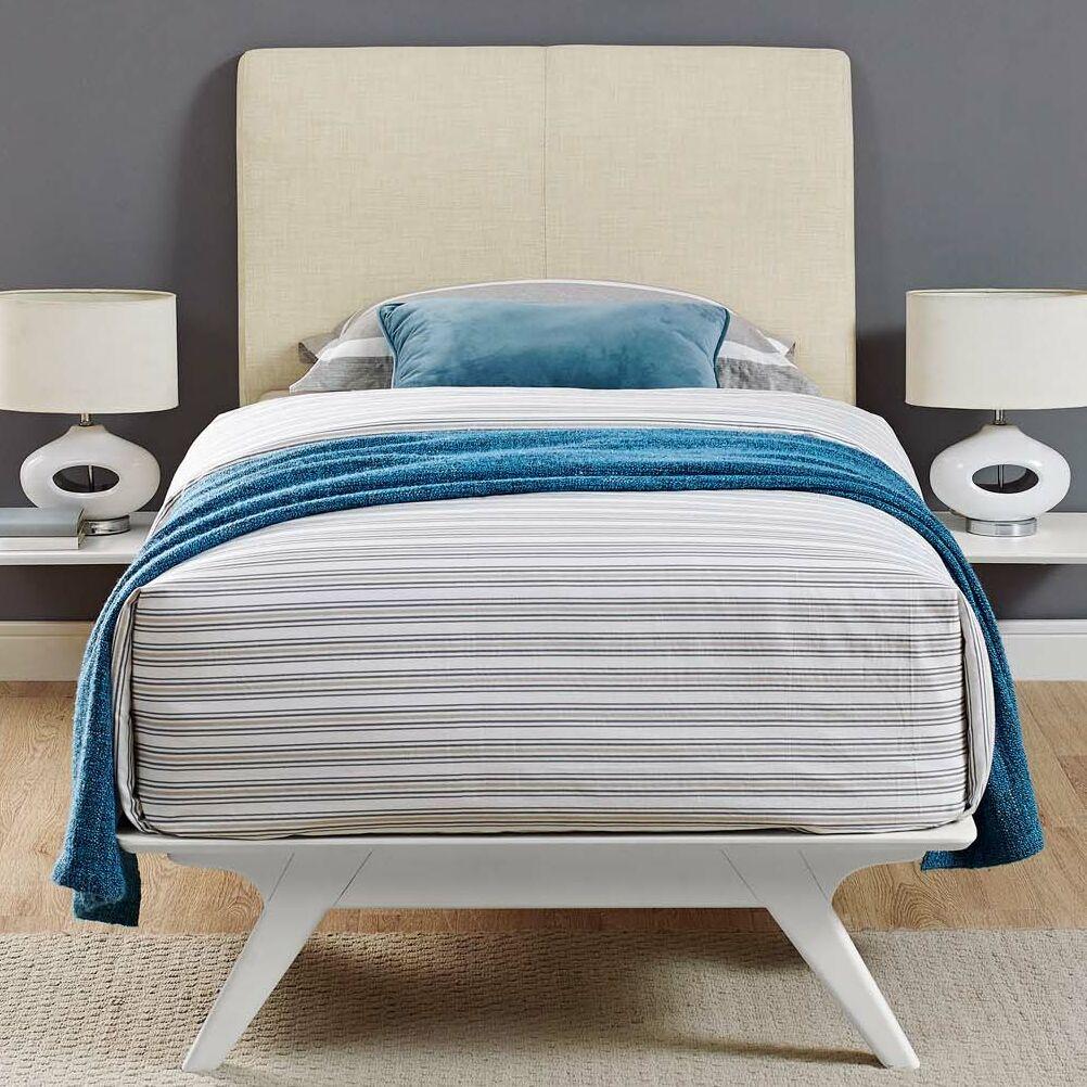 Hannigan Panel Bed Color: Beige, Size: Queen