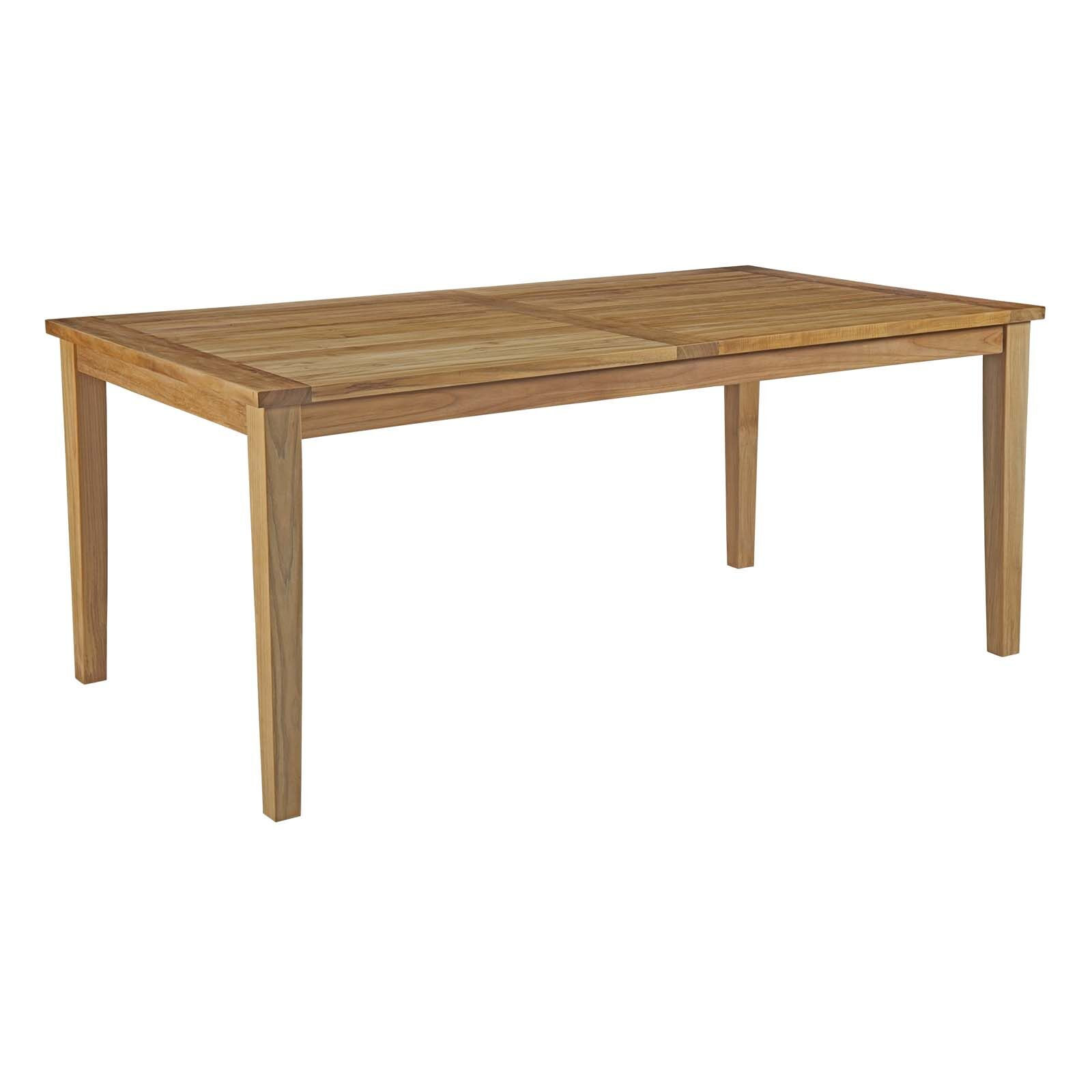 Elaina Outdoor Patio Teak Dining Table Size: 30.5