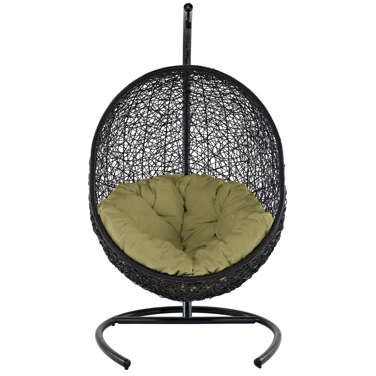 Encase Swing Chair with Stand Color: Peridot
