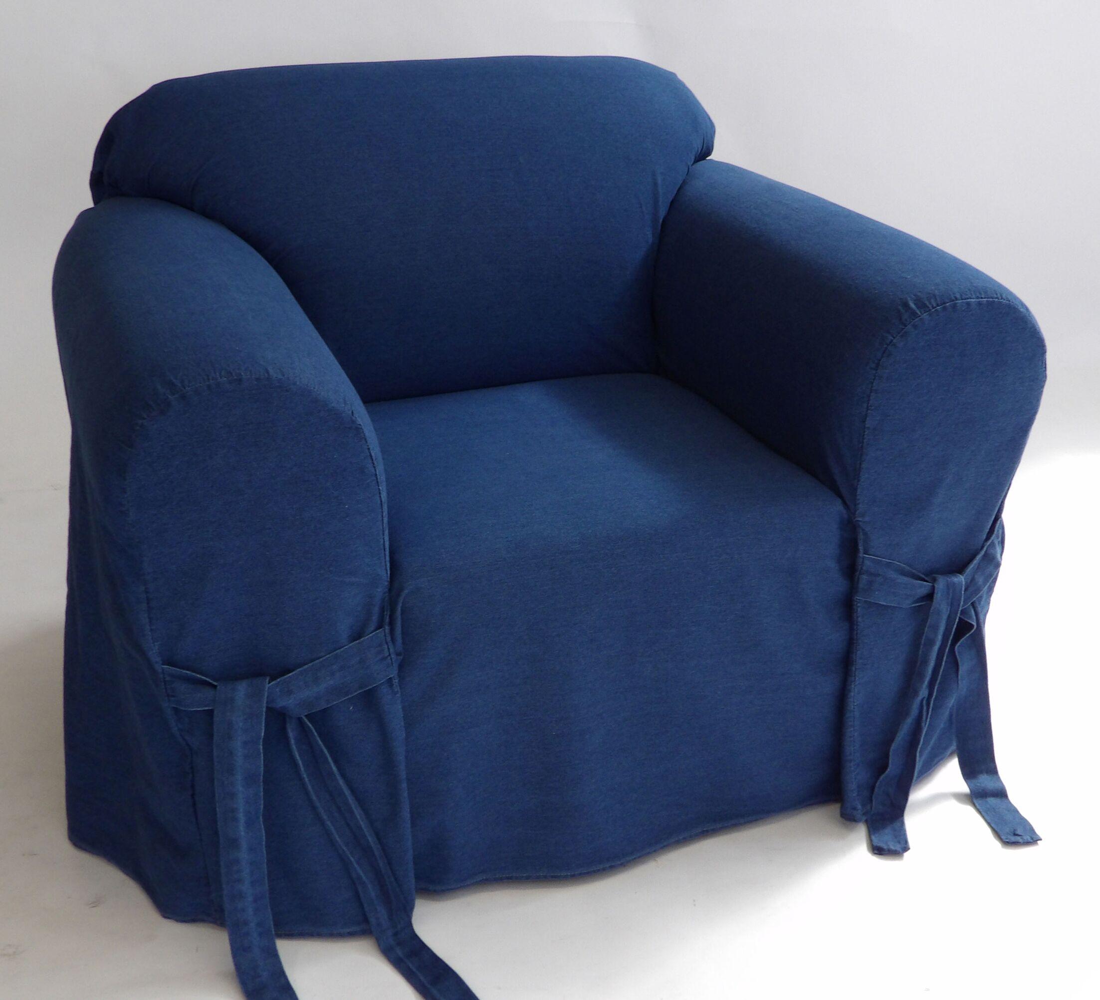 Authentic Box Cushion Armchair Slipcover