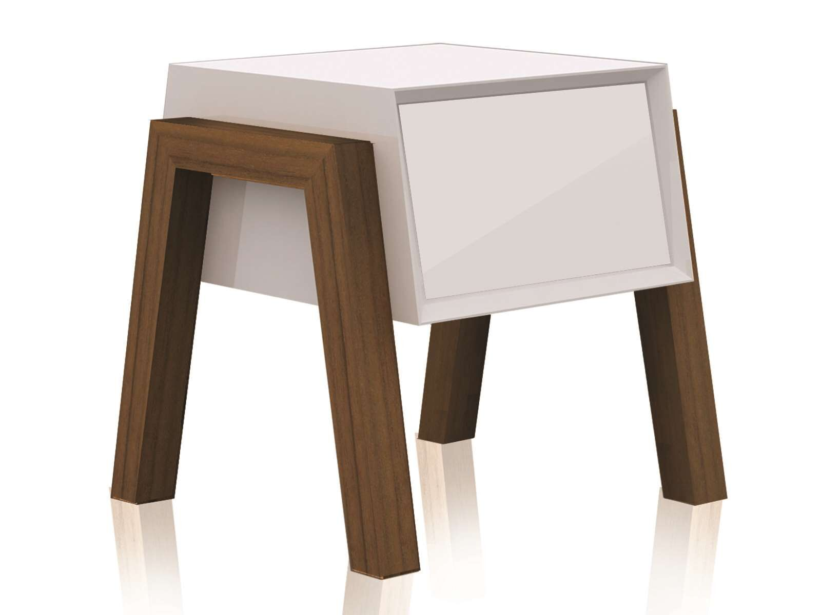 Figo End Table Color: White