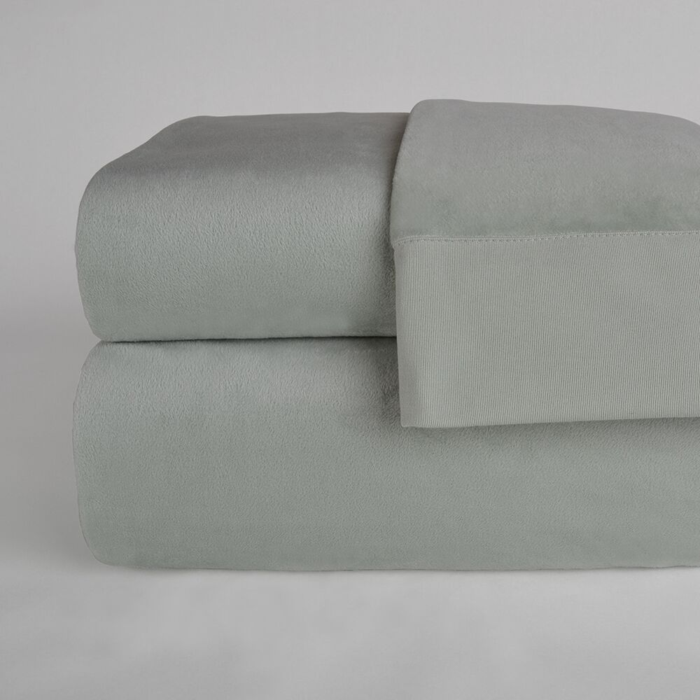 UltraLight� Brushed Cotton 4 Piece Sheet Set Size: King, Color: Silver Sage