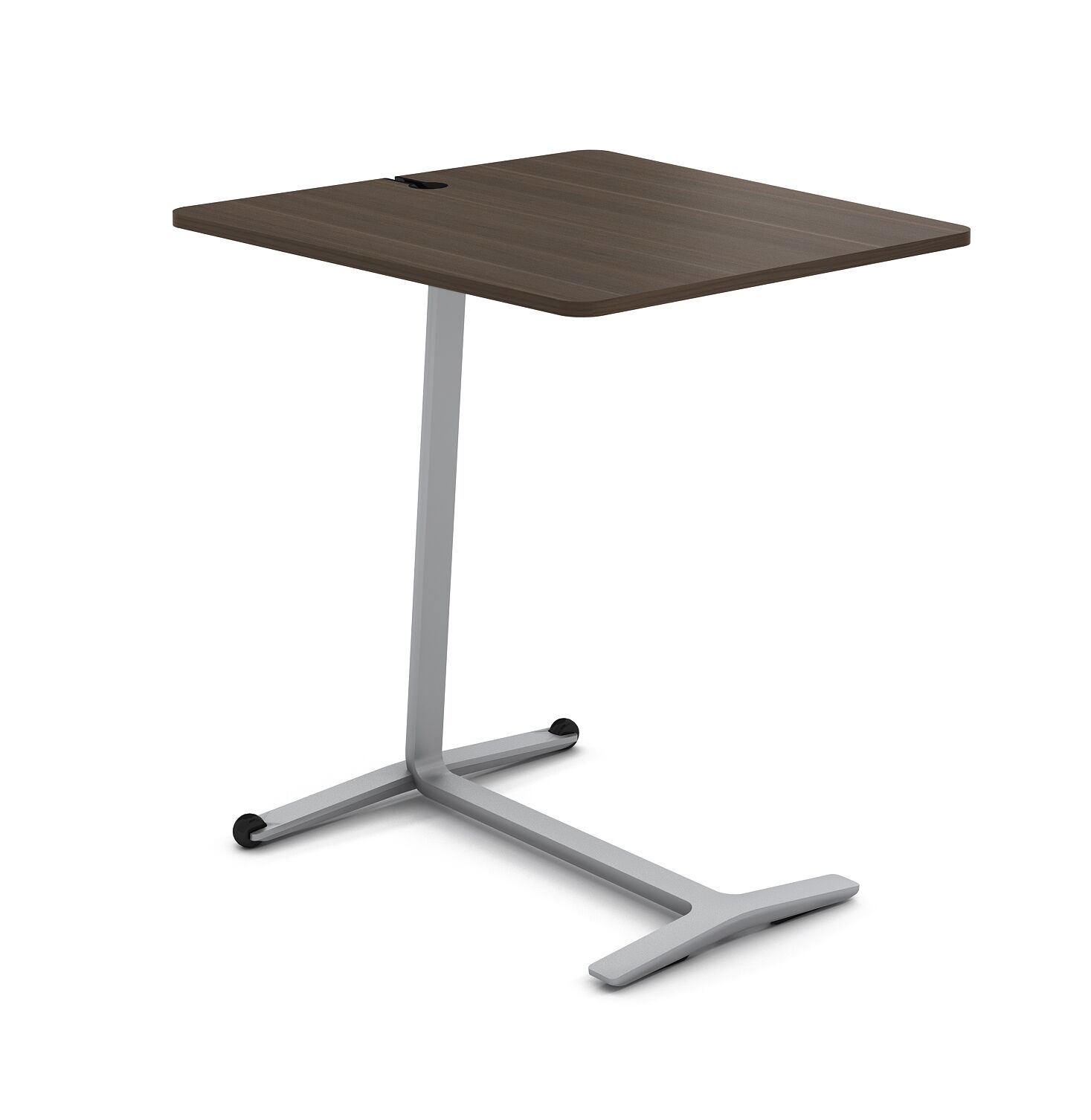 Campfire Skate End Table Color: Platinum Metallic, Laminate Color: Blackwood