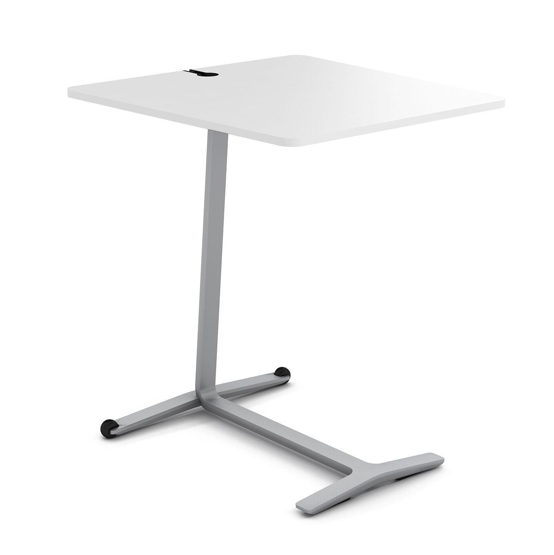 Campfire Skate End Table Color: Platinum Metallic, Laminate Color: Arctic White