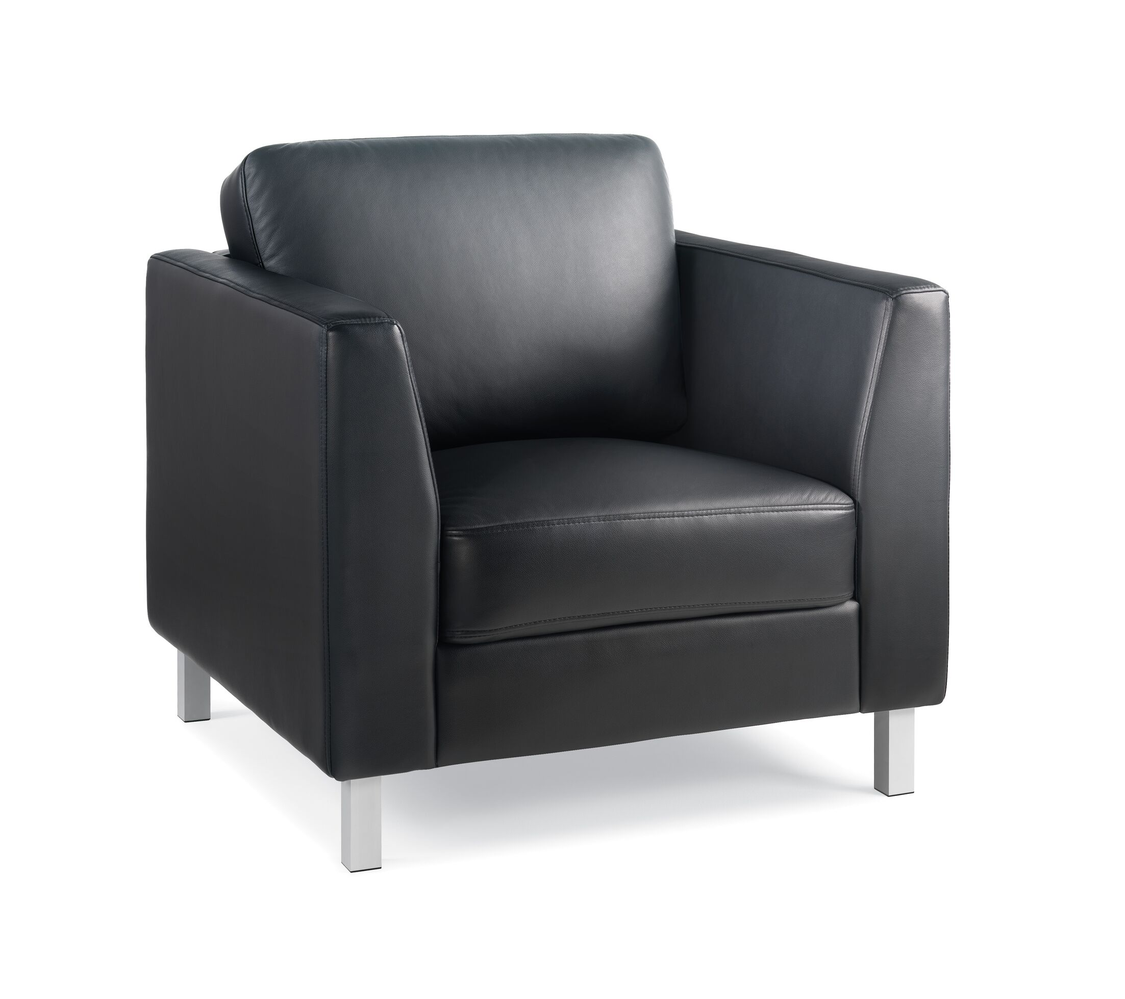 Lincoln Leather Lounge Chair Leather Color: Turnstone Leather - Black