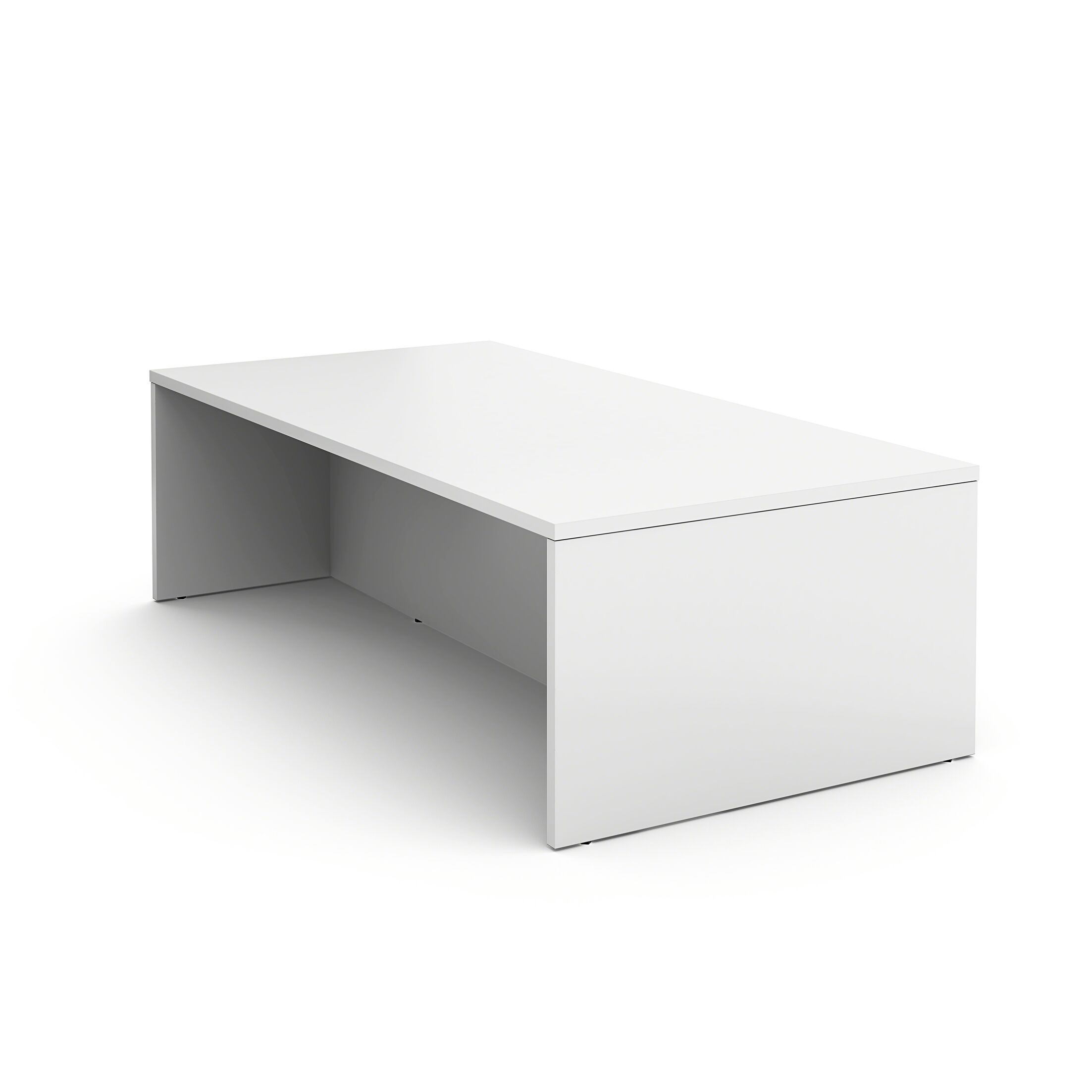 Campfire Rectangular Conference Table Finish: Arctic White, Size: 40