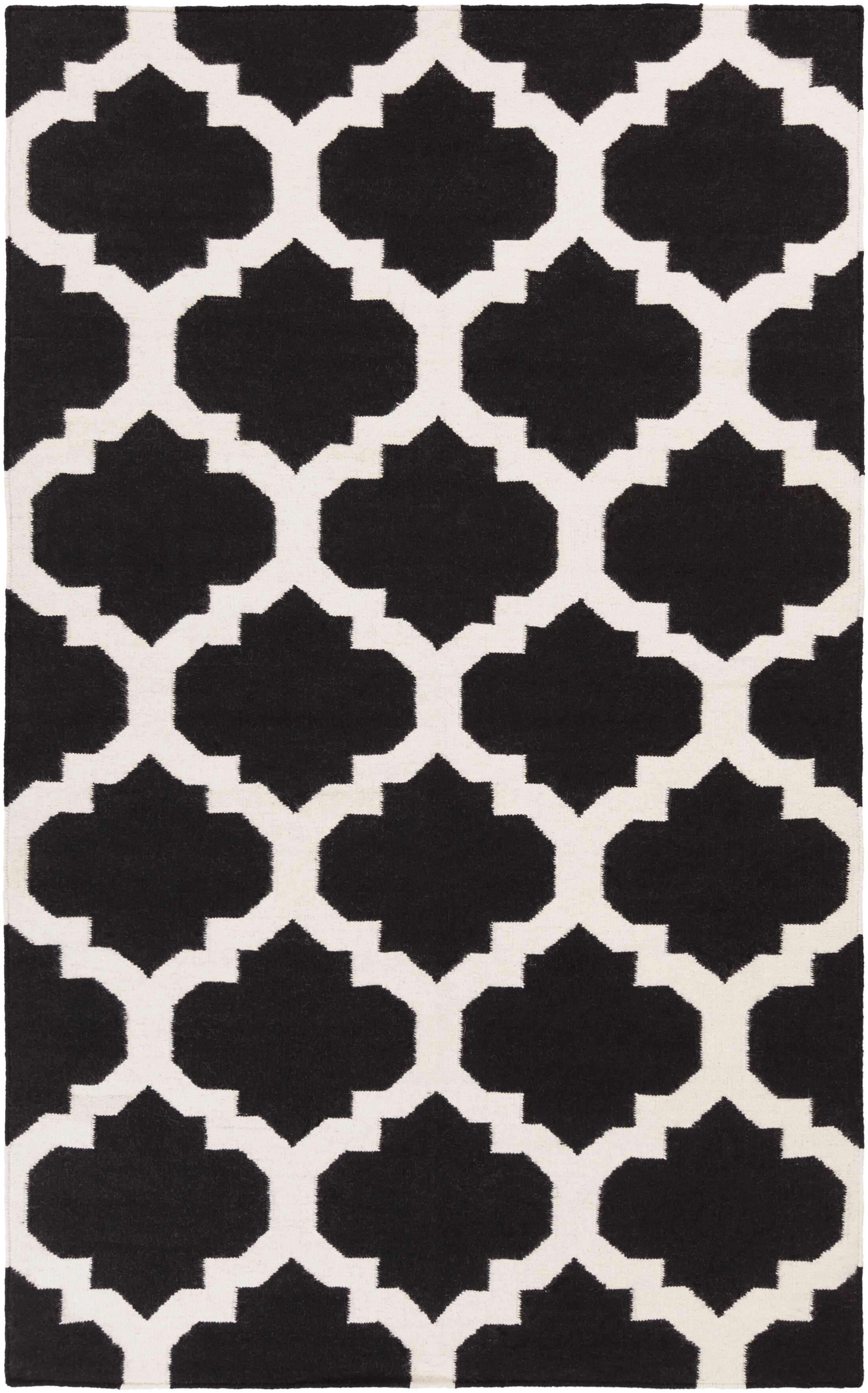 Bangor Black Geometric Area Rug Rug Size: Rectangle 9' x 12'