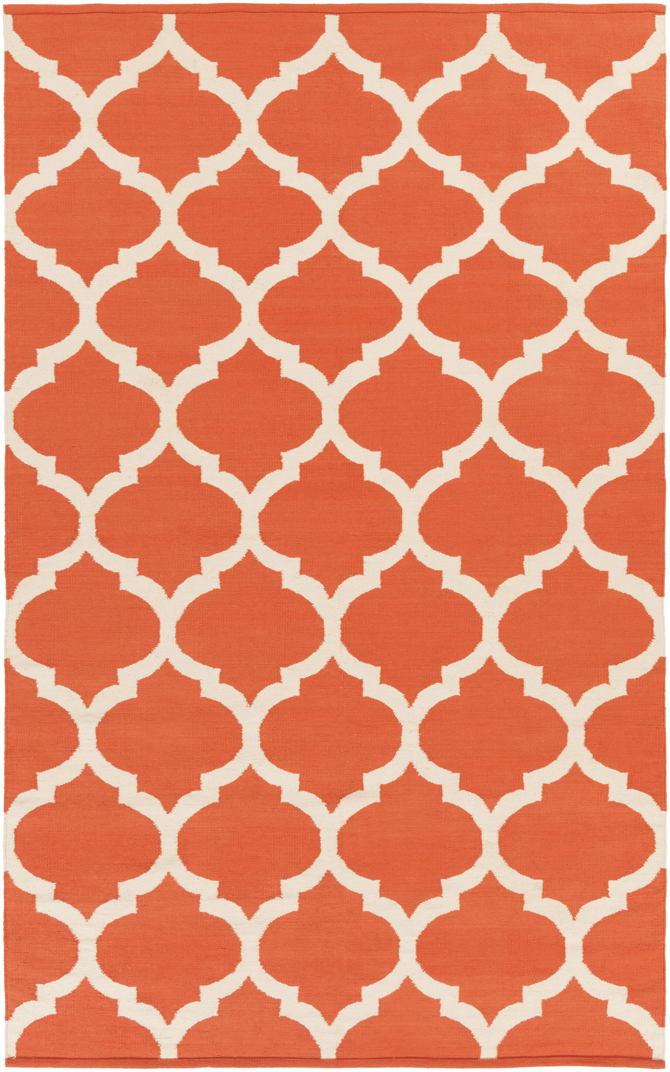 Bohannon Orange Geometric Area Rug Rug Size: Rectangle 8' x 10'