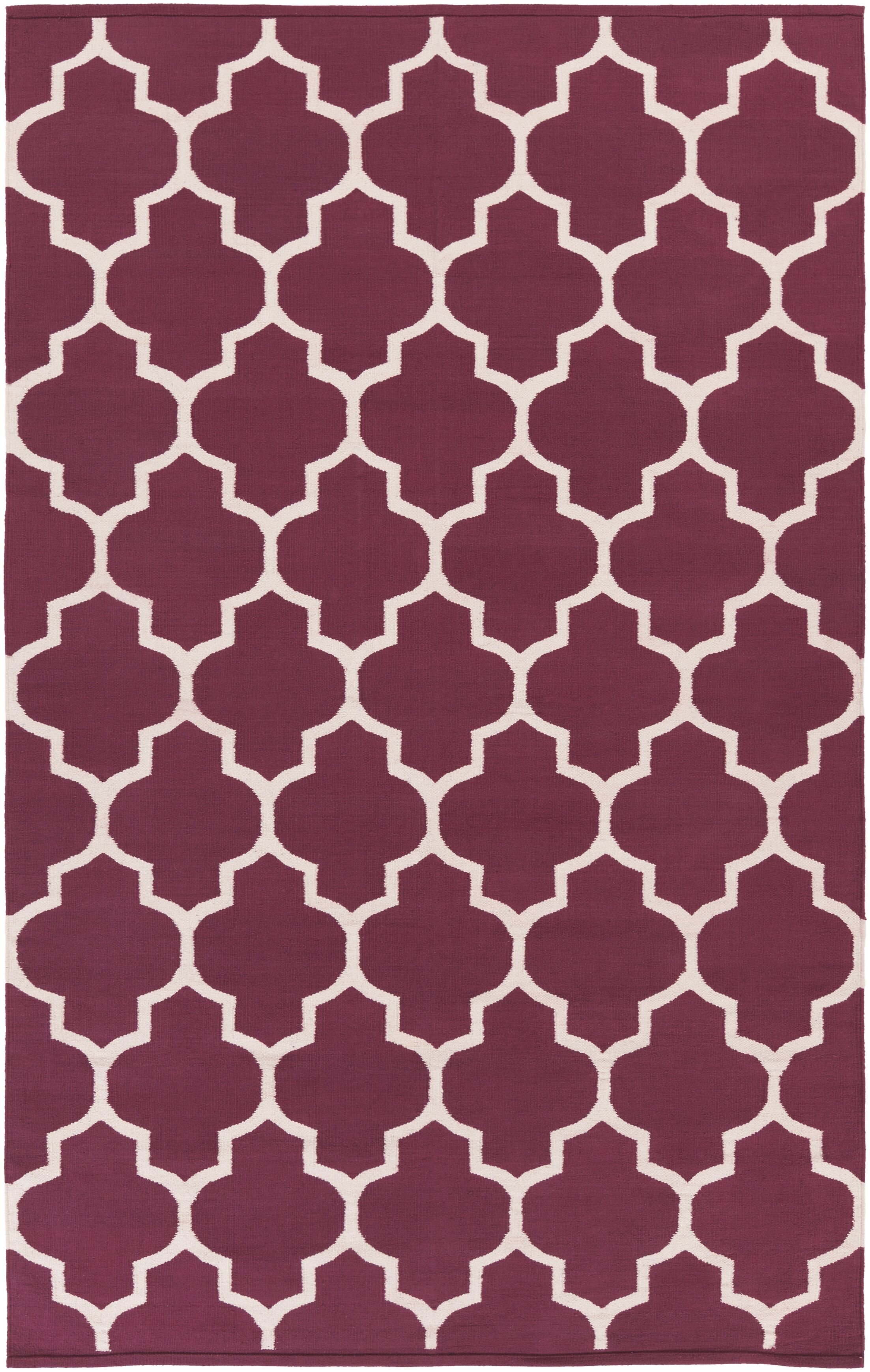 Bohannon Purple Geometric Area Rug Rug Size: Rectangle 8' x 10'
