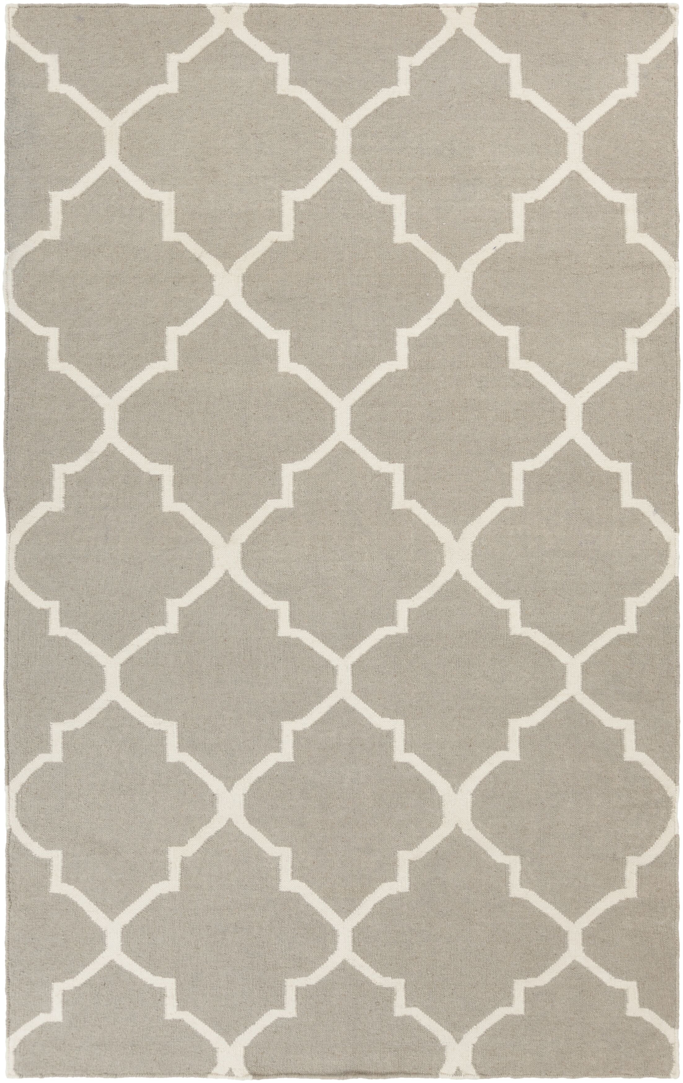 Bangor Grey Geometric Area Rug Rug Size: Rectangle 9' x 12'