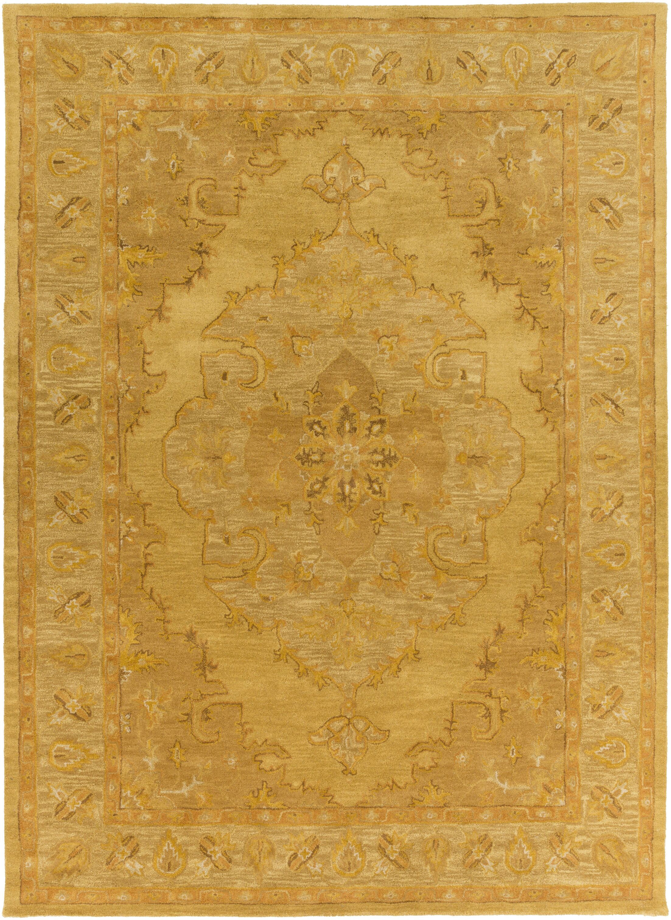 Eaddy Hand-Tufted Sunflower/Gold Area Rug Rug Size: Rectangle 5' x 8'