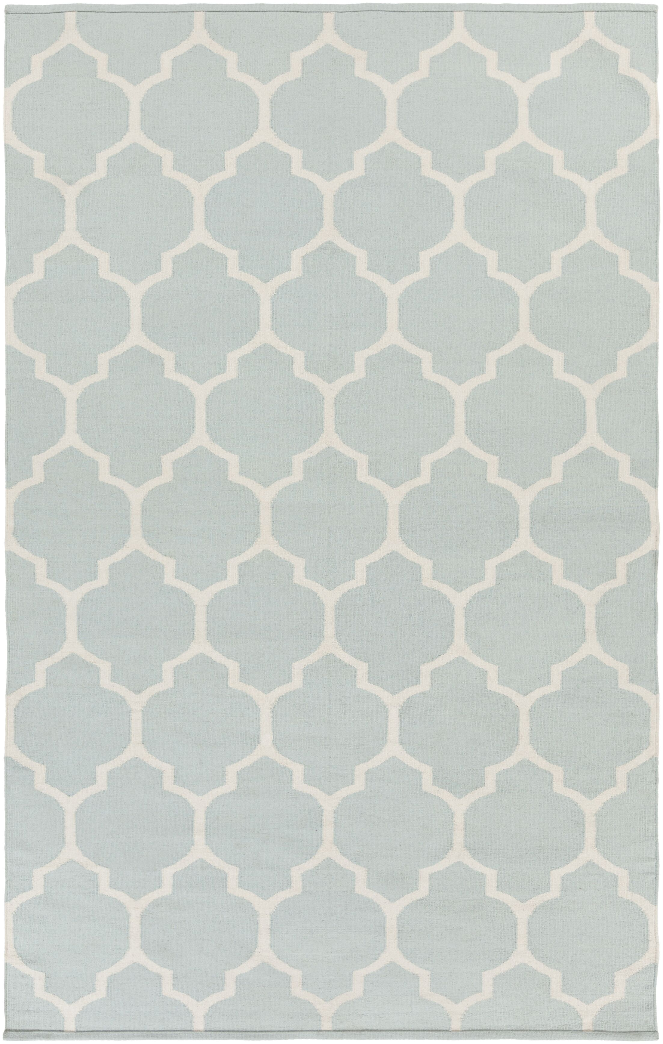 Bohannon Handmade Gray Geometric Area Rug Rug Size: Rectangle 8' x 10'
