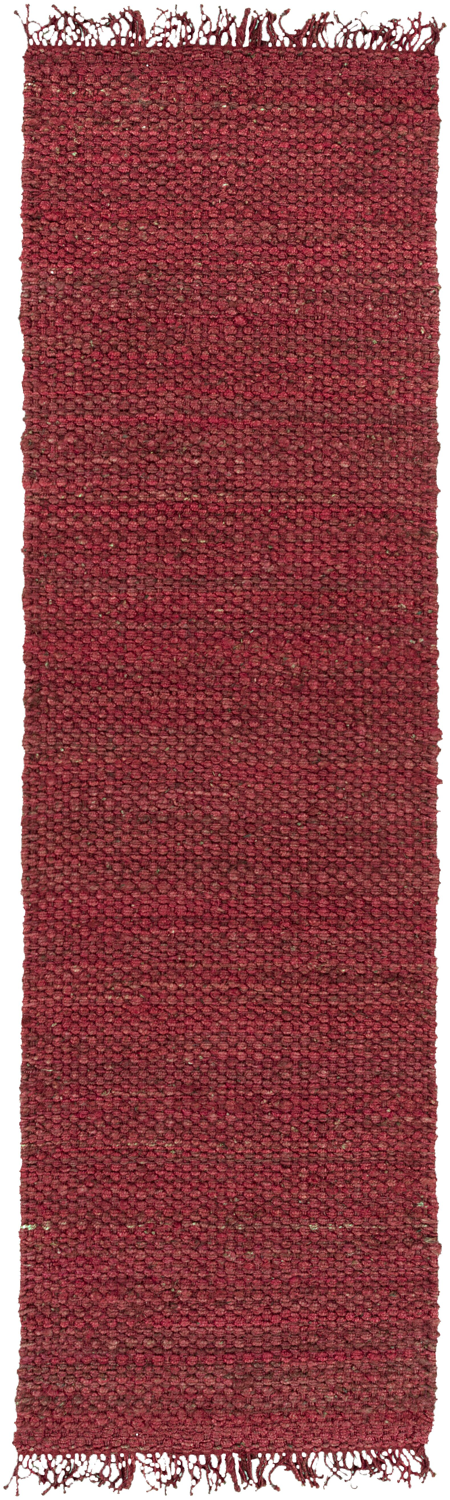 Pineda Hand Woven Red Area Rug Rug Size: Runner 2'3