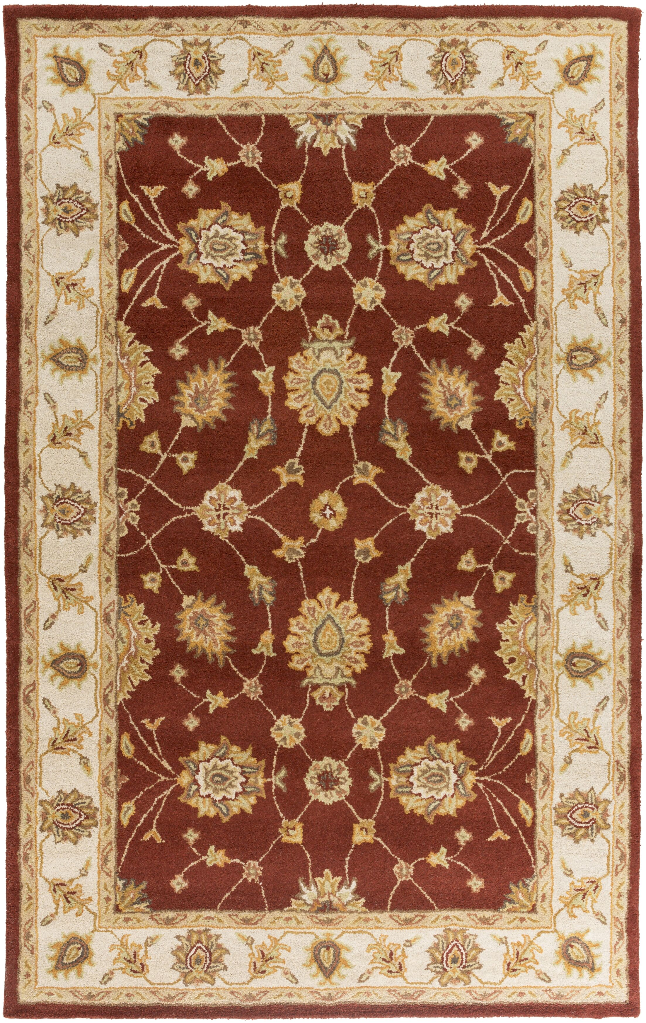 Plemmons Red Area Rug Rug Size: Rectangle 5' x 8'