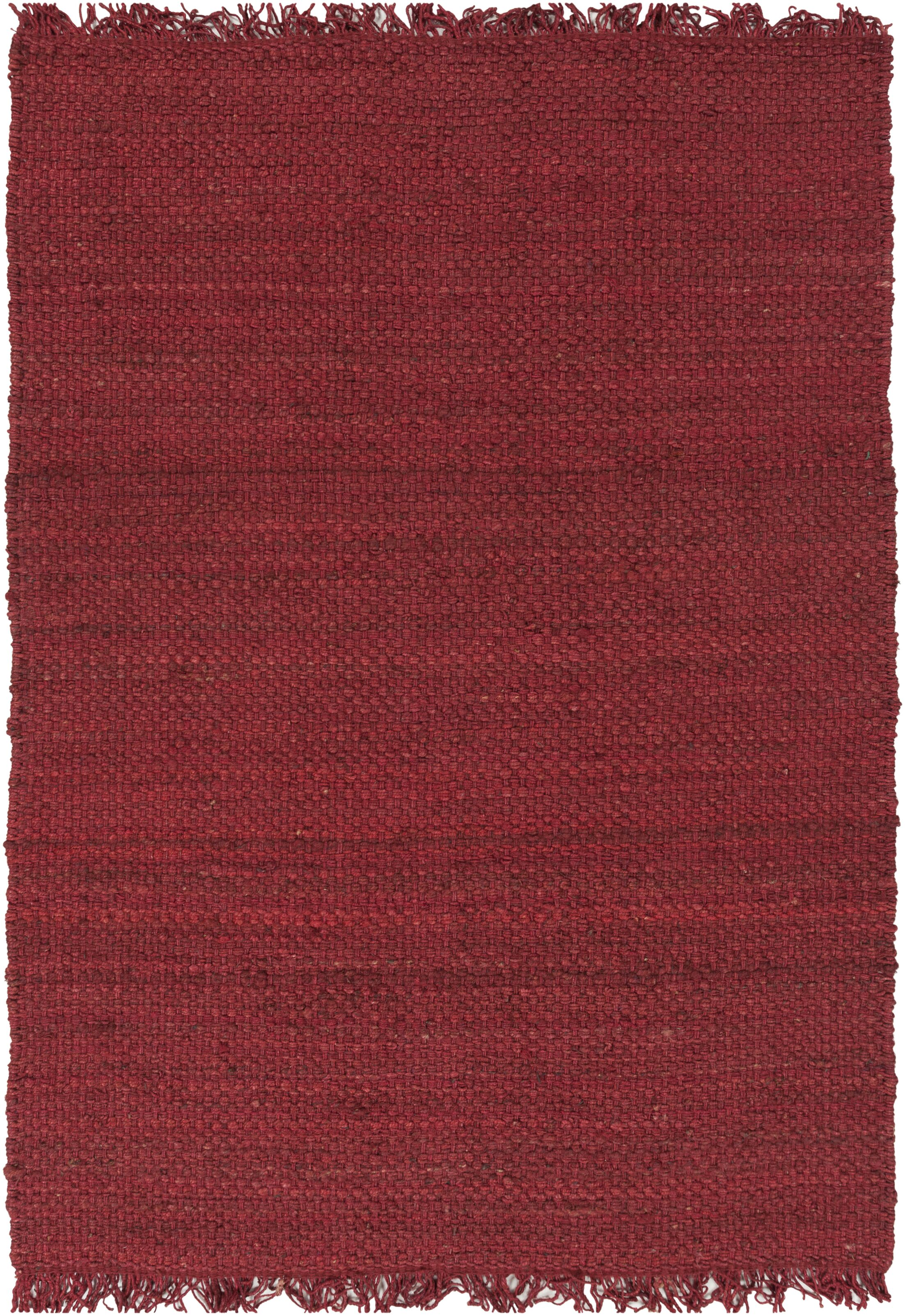 Pineda Hand Woven Red Area Rug Rug Size: Rectangle 8' x 10'