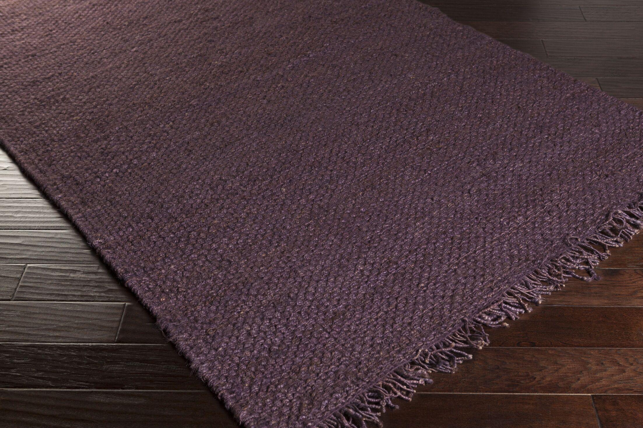 Pineda Hand Woven Purple Area Rug Rug Size: Rectangle 8' x 10'