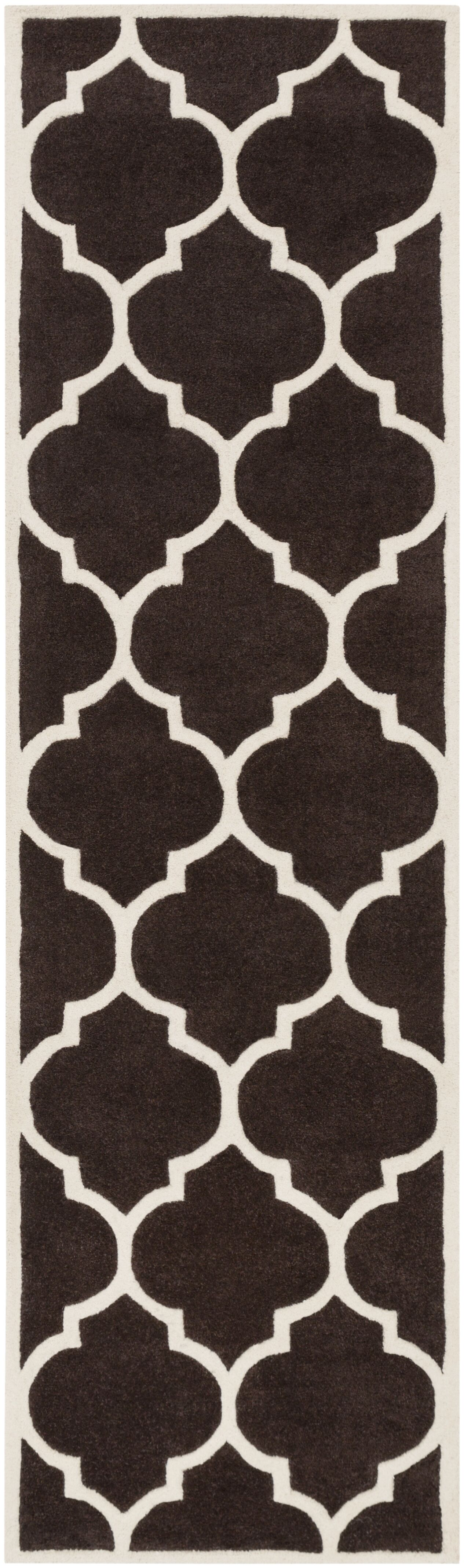 Ayler Brown Geometric Area Rug Rug Size: Runner 2'3