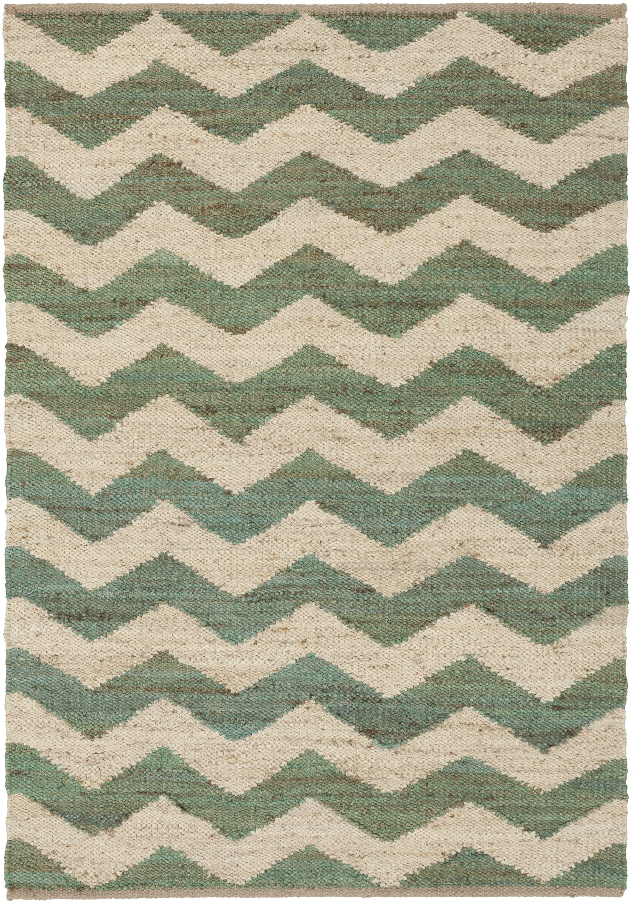 Ayers Teal/Ivory Area Rug Rug Size: Rectangle 4' x 6'