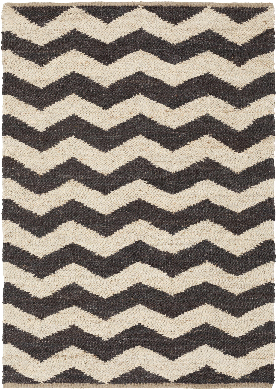 Ayers Black & Ivory Area Rug Rug Size: Rectangle 9' x 12'