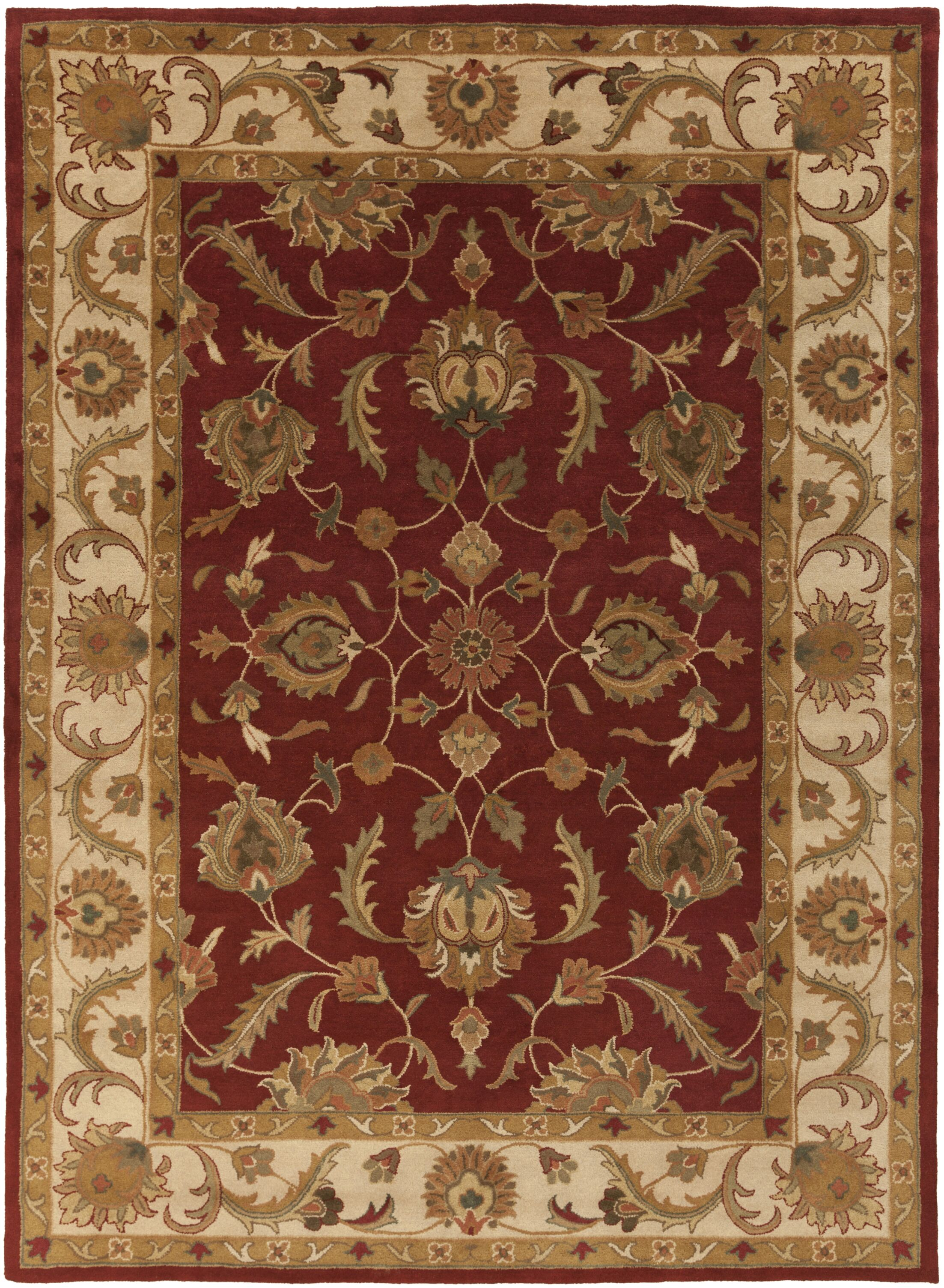 Mckelvey Red Area Rug Rug Size: Rectangle 6' x 9'