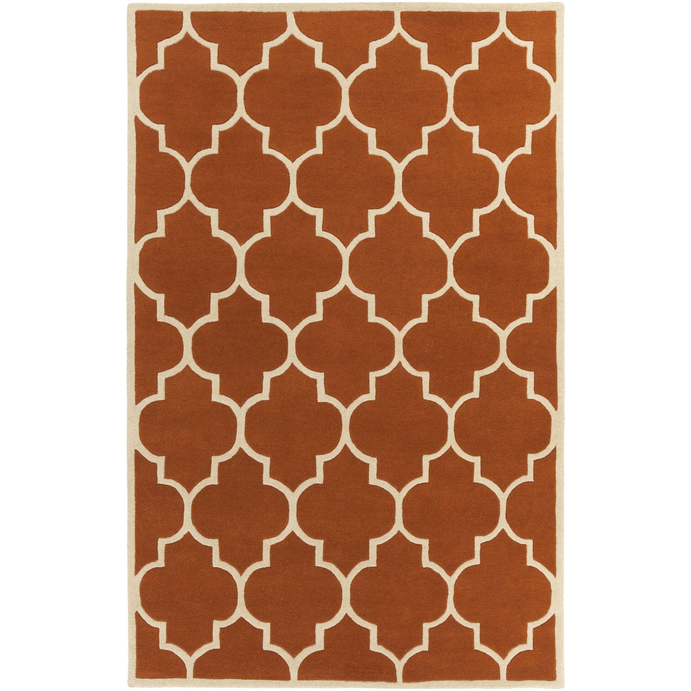 Ayler Orange Geometric Area Rug Rug Size: Rectangle 5' x 8'