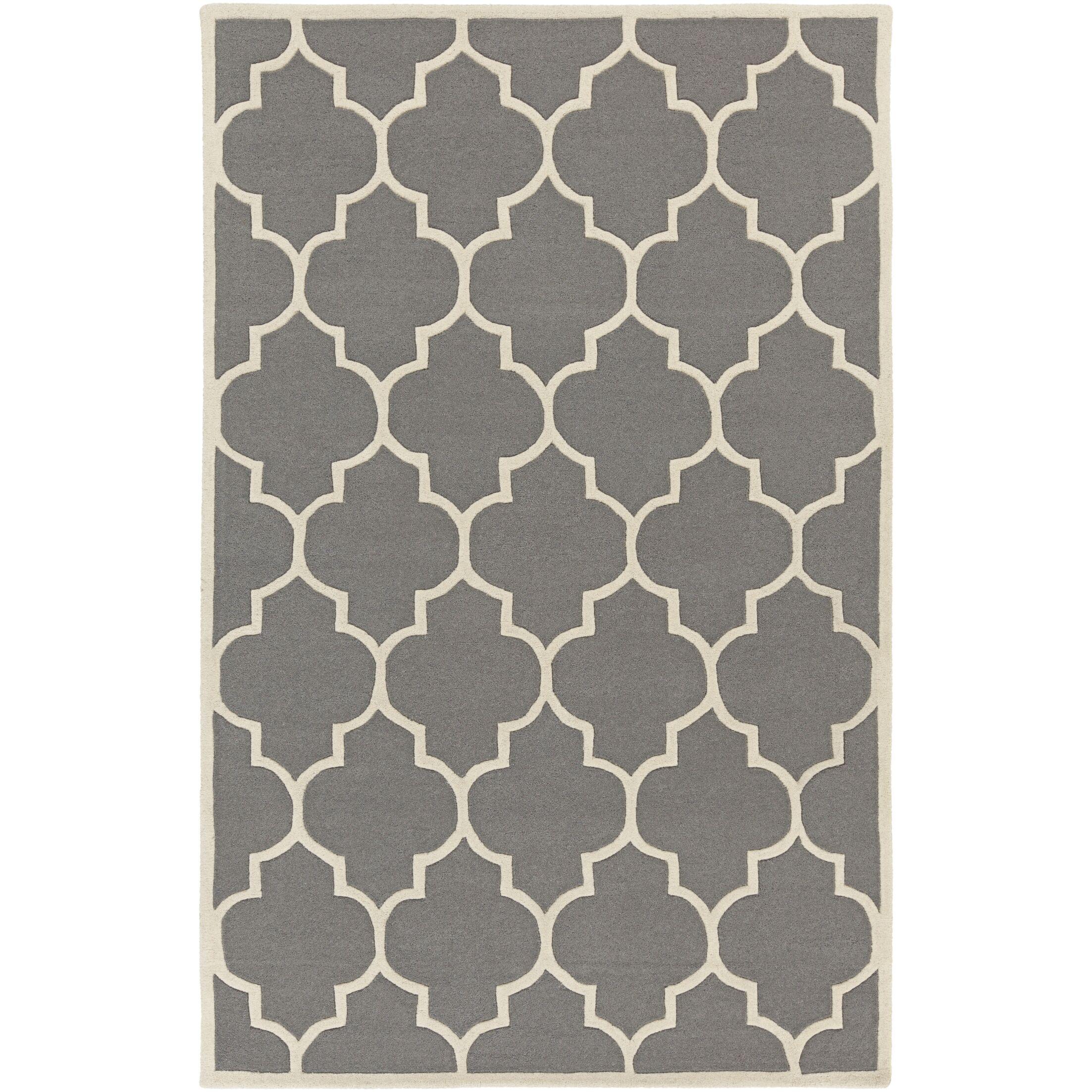 Ayler Charcoal Geometric Area Rug Rug Size: Rectangle 8' x 11'