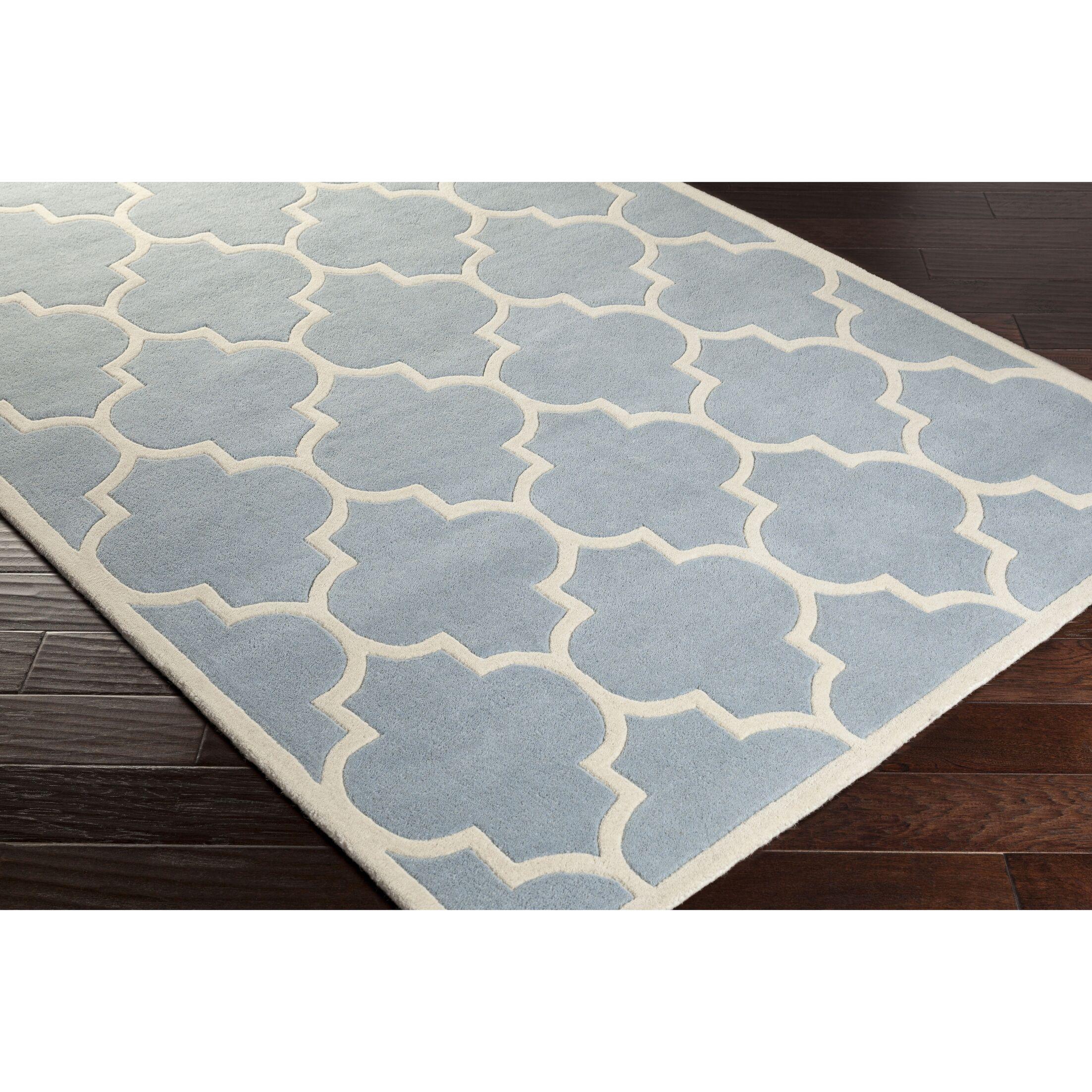 Ayler Blue Geometric Area Rug Rug Size: Rectangle 6' x 9'