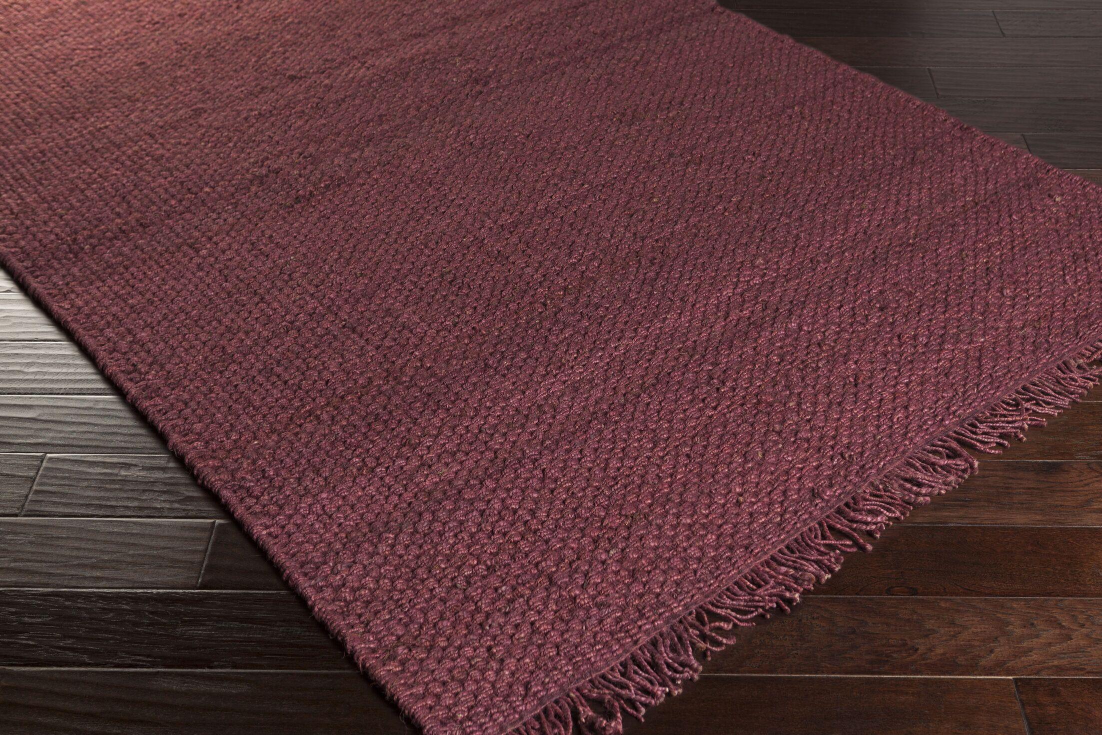 Pineda Burgundy Area Rug Rug Size: Rectangle 4' x 6'