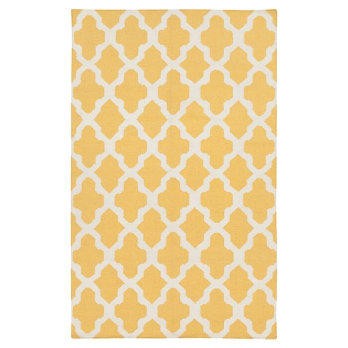 Bangor Yellow Geometric Area Rug Rug Size: Rectangle 8' x 10'