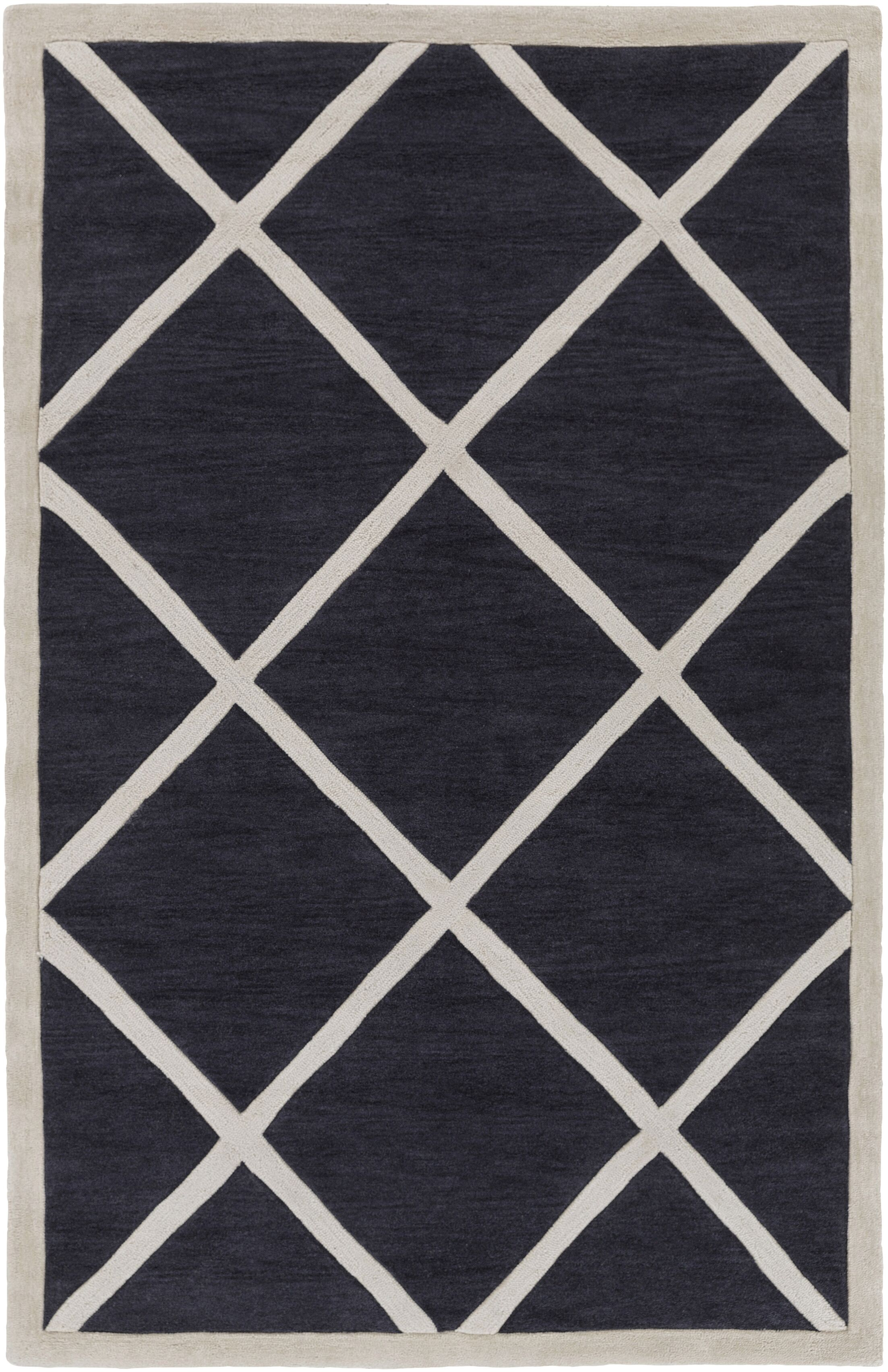 Cleitus Slate & Ivory Area Rug Rug Size: Rectangle 5' x 7'6