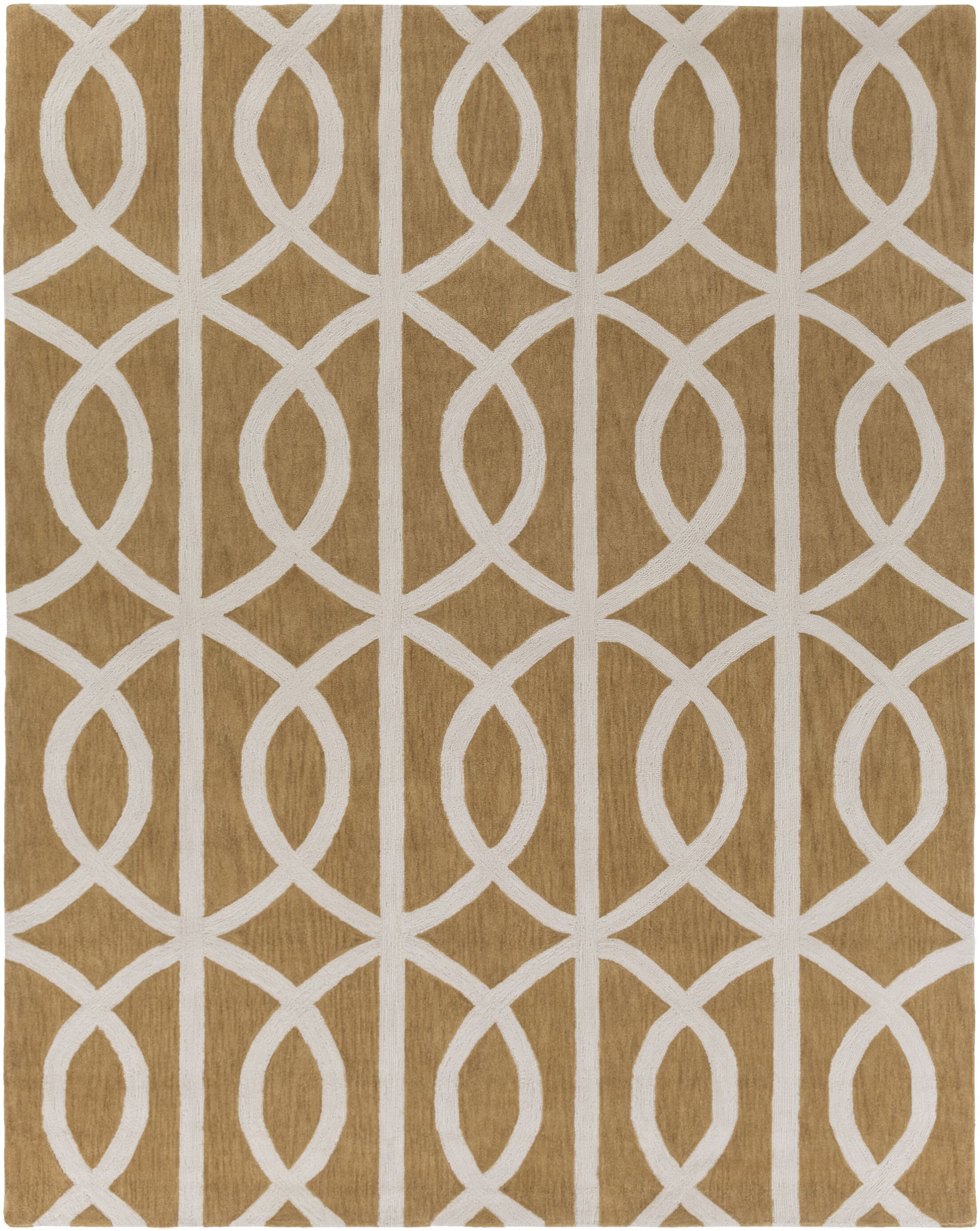 Gingrich Tan & Ivory Area Rug Rug Size: Rectangle 5' x 7'6