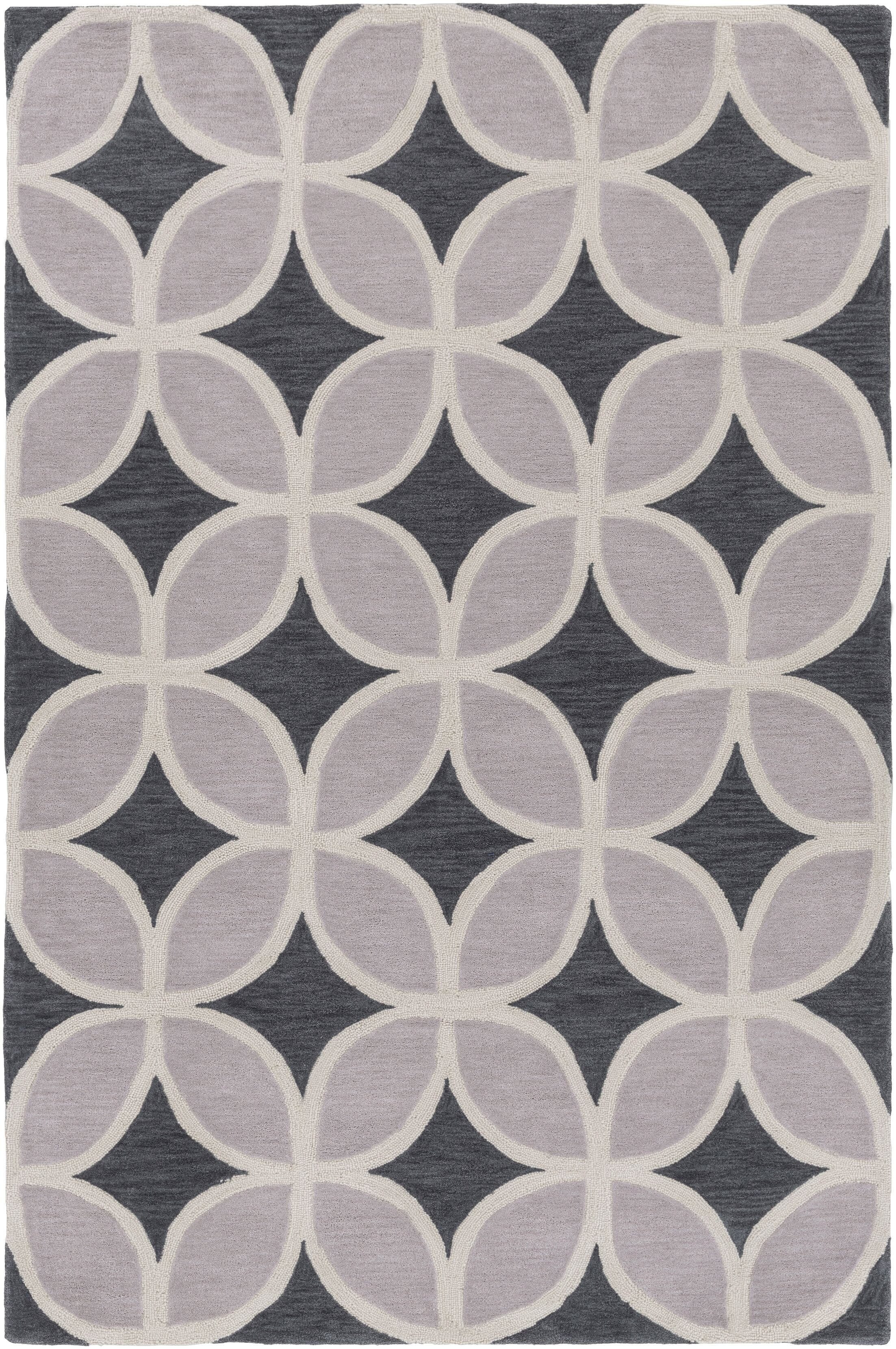 Kroeker Charcoal & Light Gray Area Rug Rug Size: Rectangle 5' x 7'6