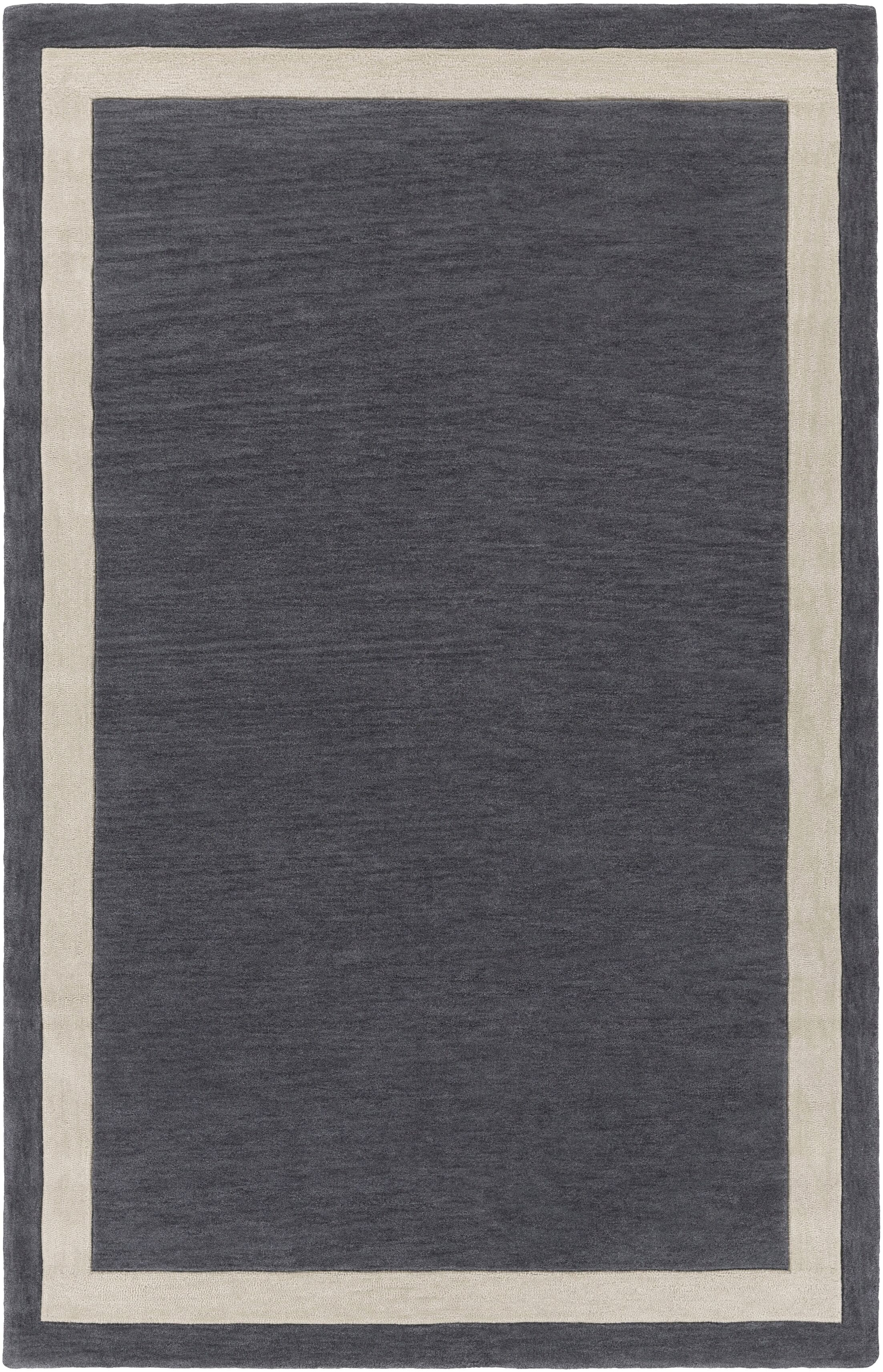 Cutrer Gray & Ivory Area Rug Rug Size: Rectangle 5' x 7'6