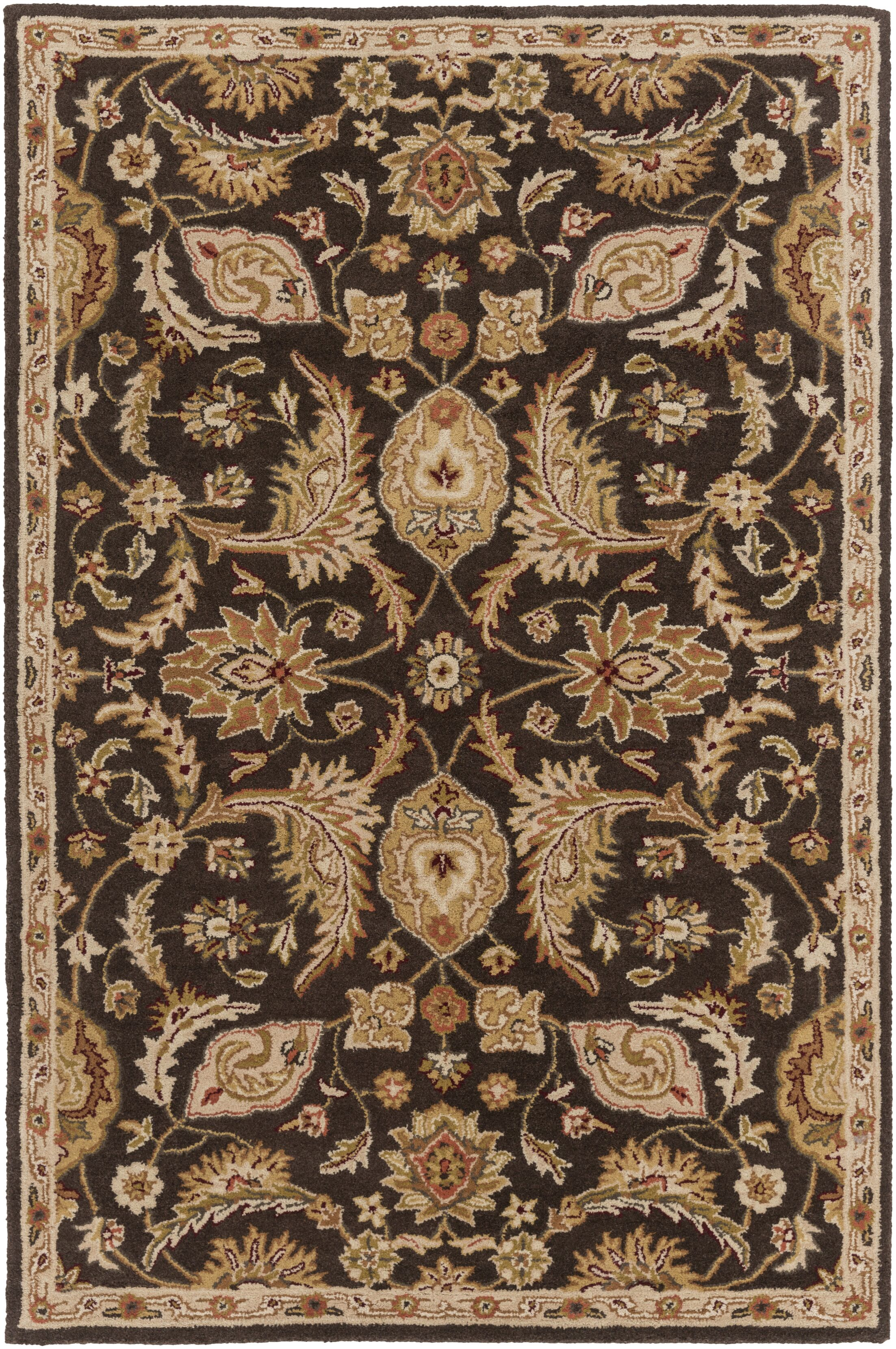 Philips Brown Area Rug Rug Size: Rectangle 5' x 8'