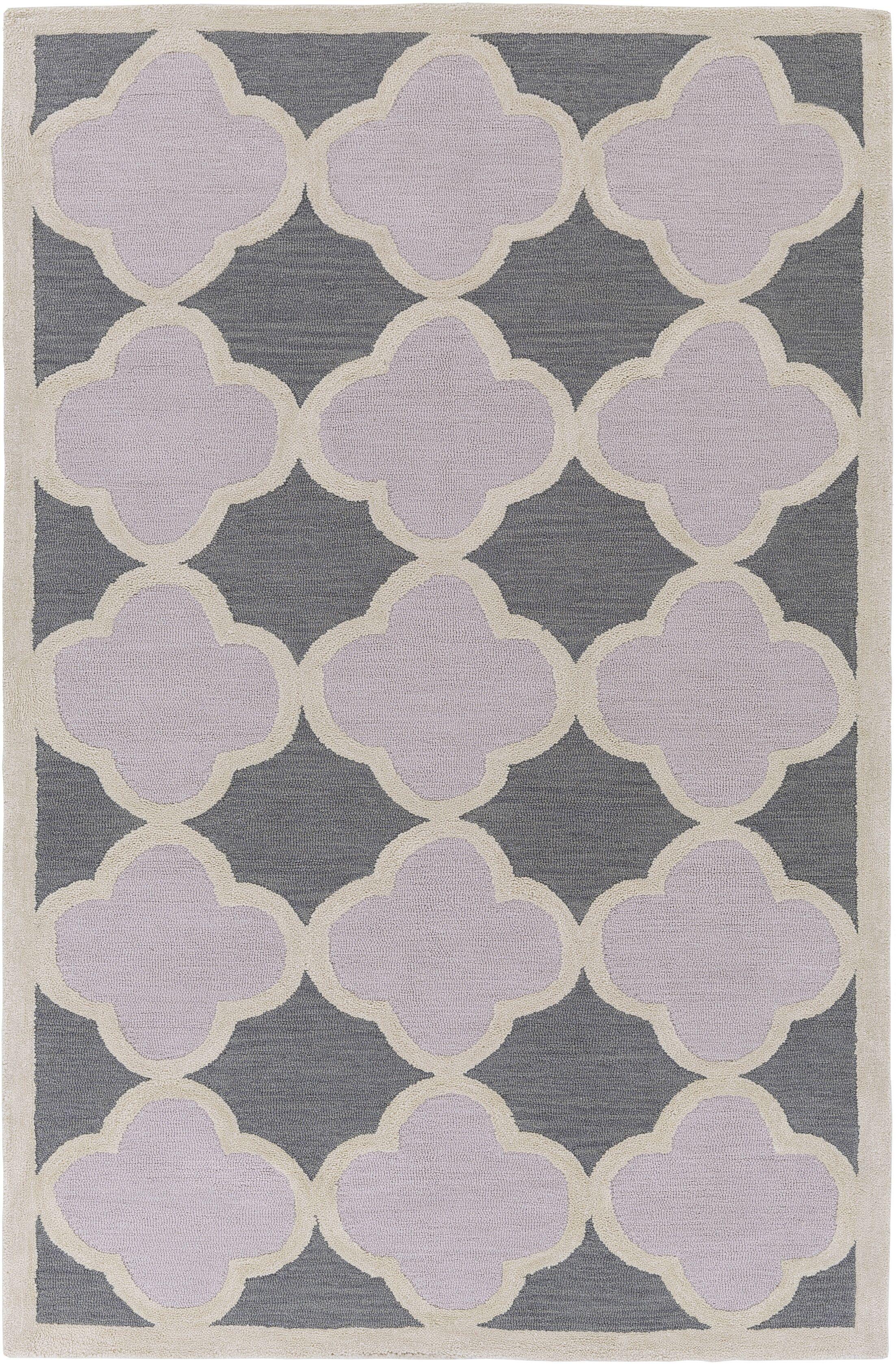 Corson Charcoal/Light Gray Area Rug Rug Size: Rectangle 5' x 7'6
