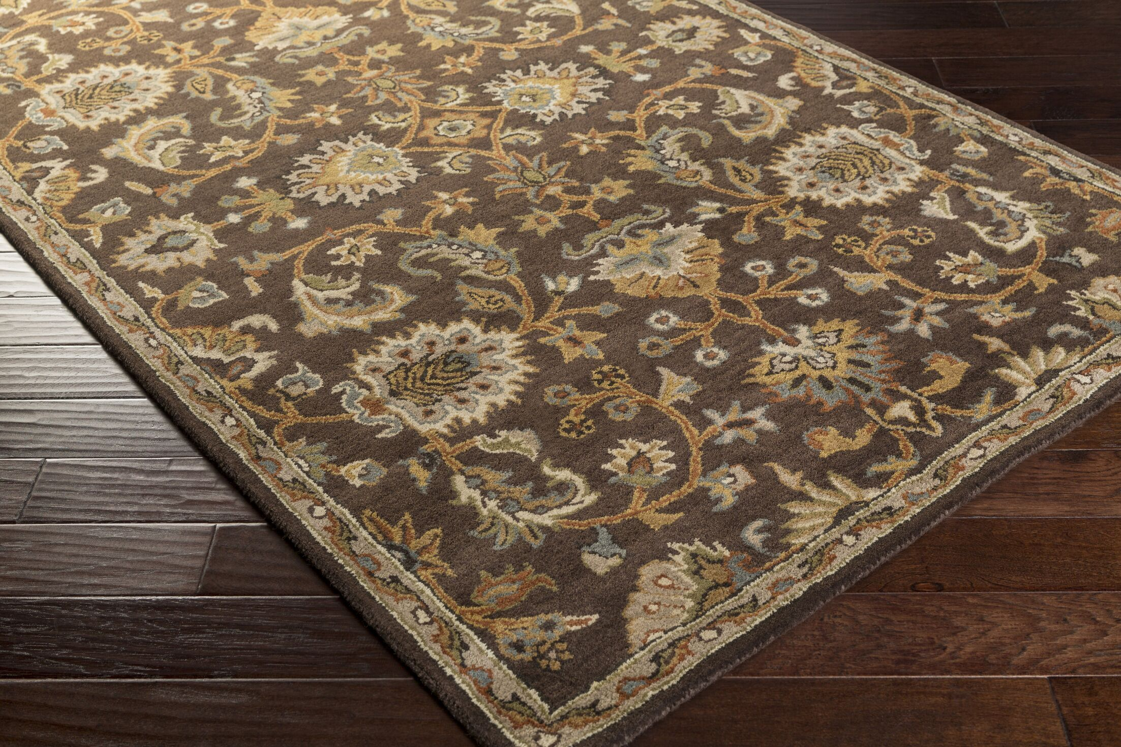 Philpott Brown Area Rug Rug Size: Runner 2'3