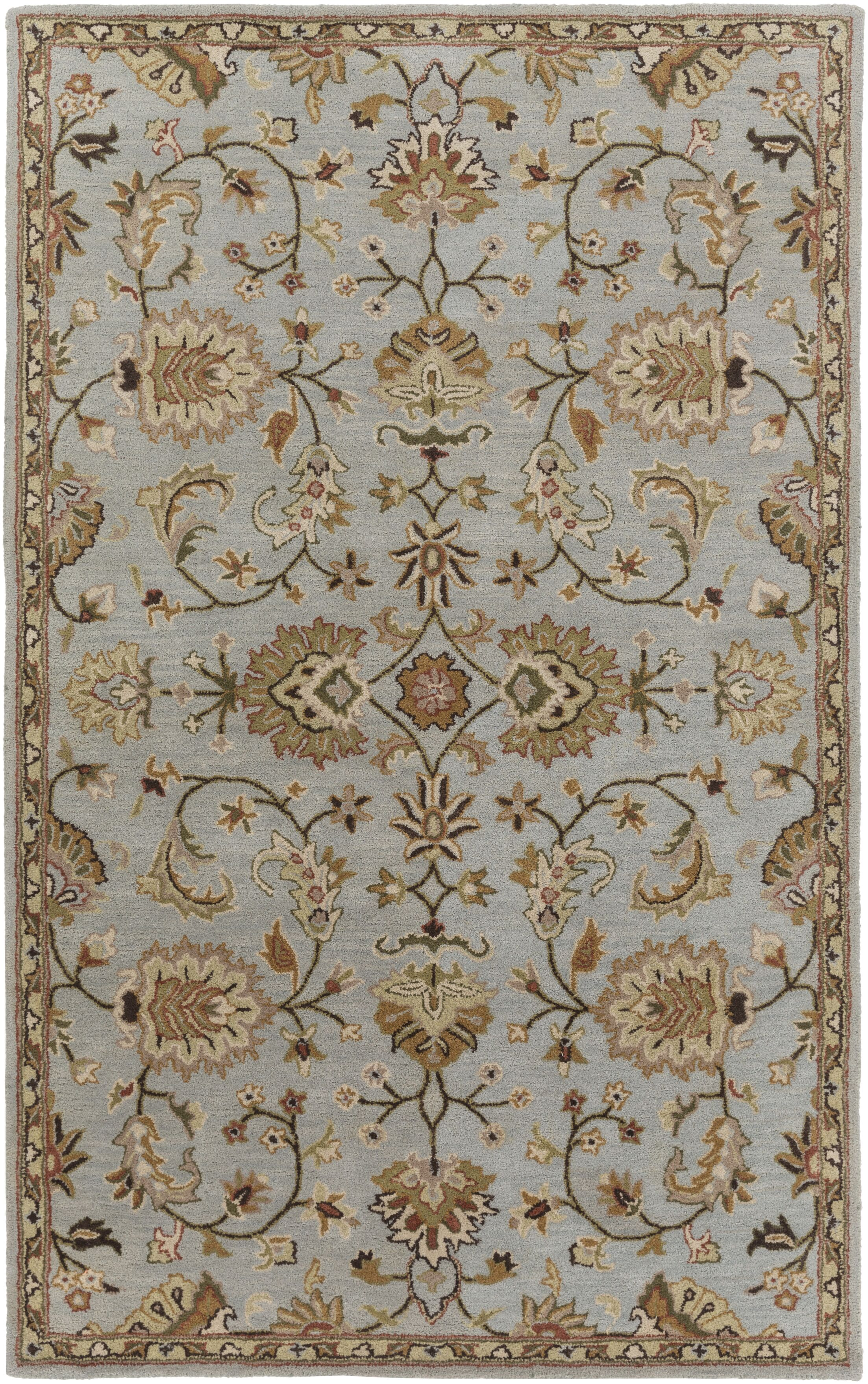 Philpott Light Blue Area Rug Rug Size: Rectangle 4' x 6'
