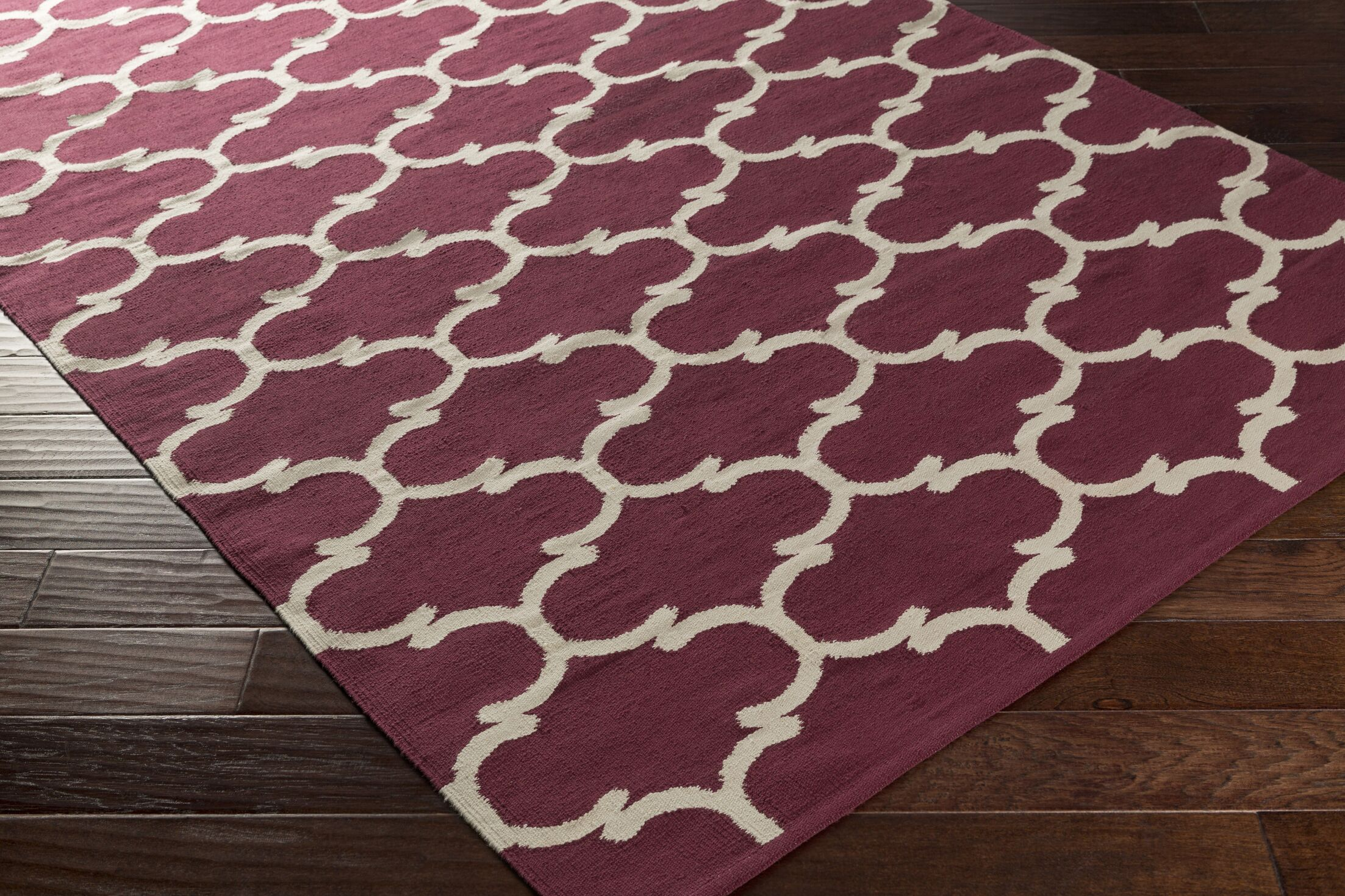 Ayles Purple/Ivory Area Rug Rug Size: Rectangle 8' x 10'