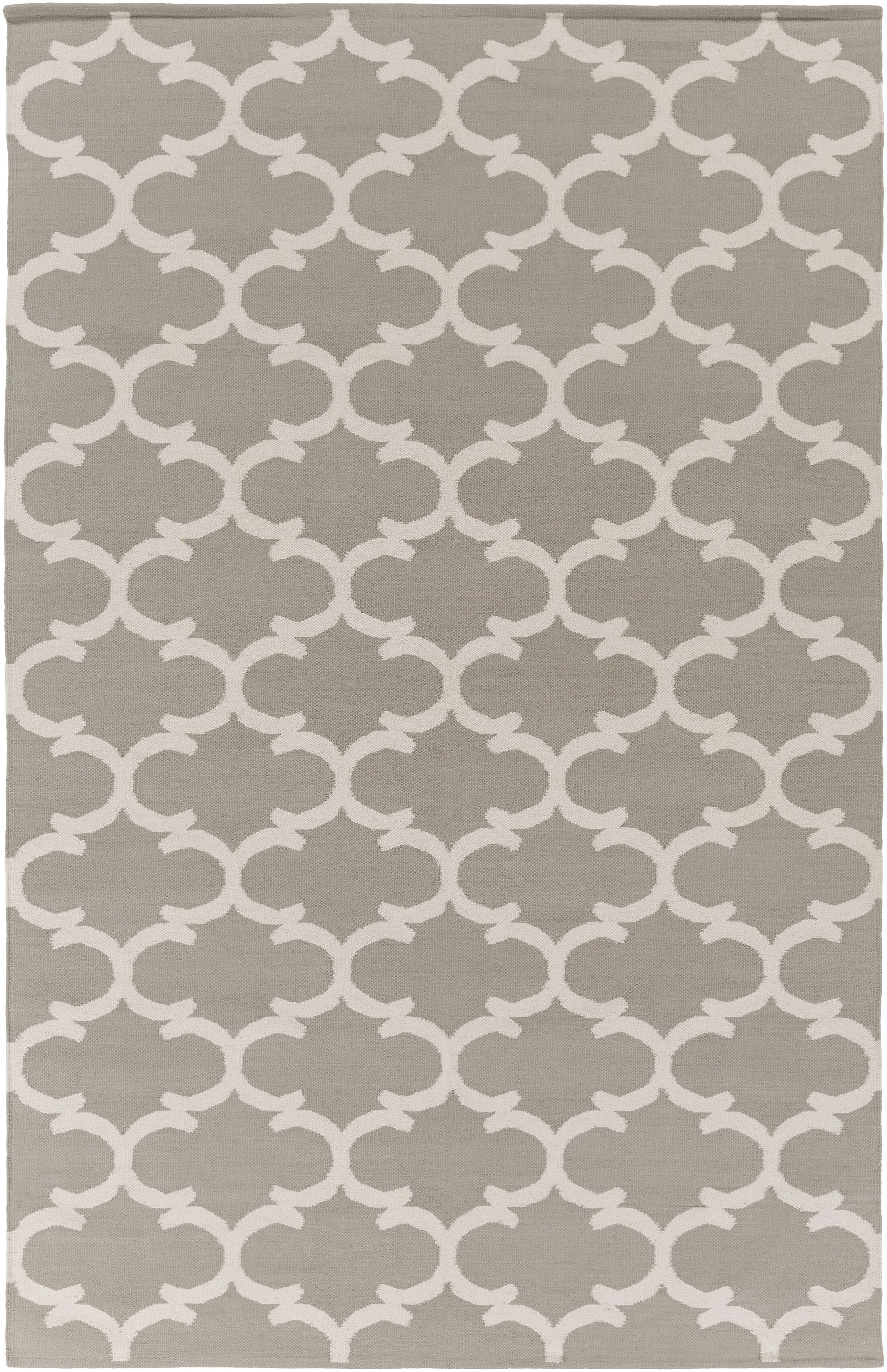 Ayles Gray & Ivory Area Rug Rug Size: Rectangle 9' x 12'
