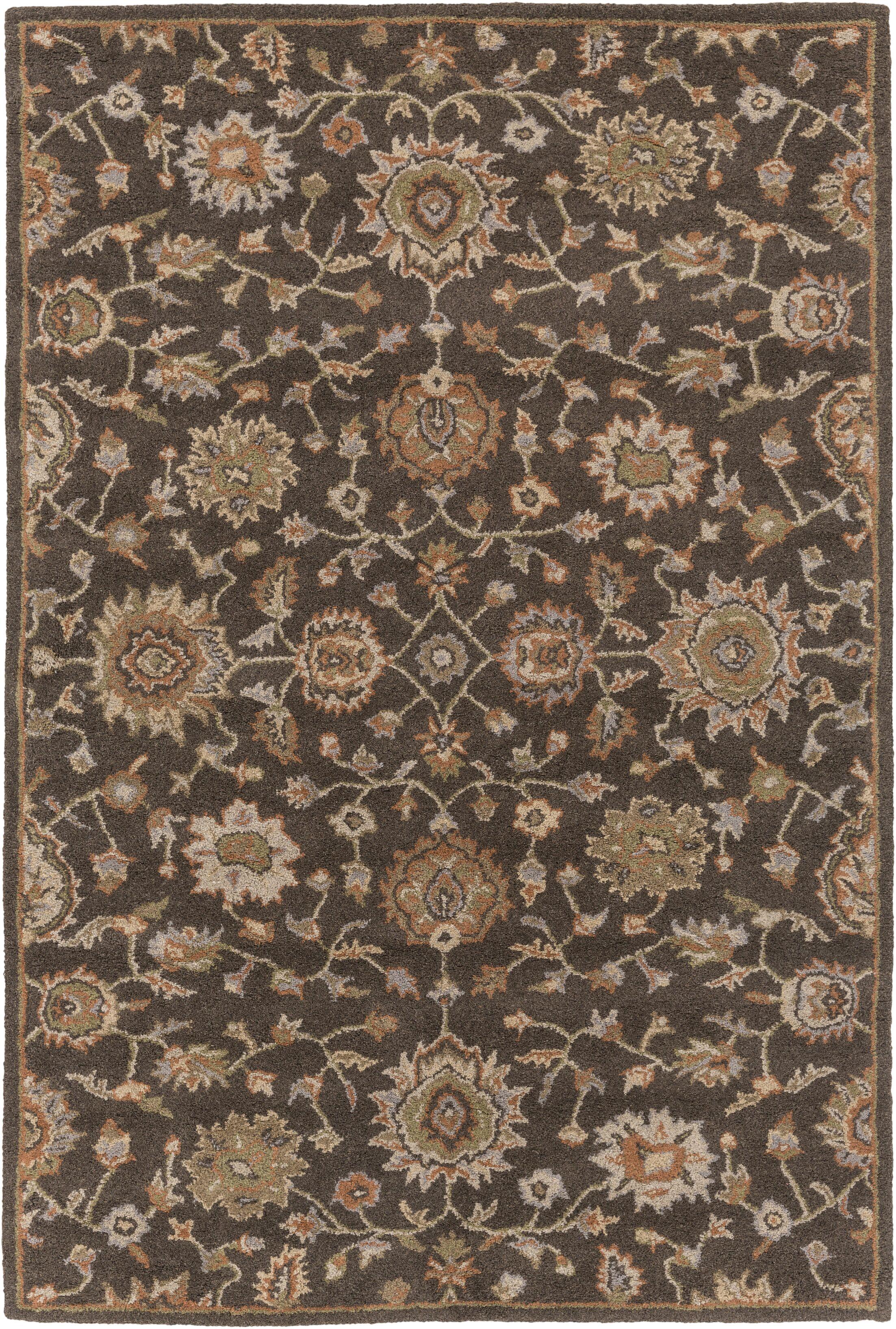 Dyal Brown Area Rug Rug Size: Rectangle 5' x 7'6