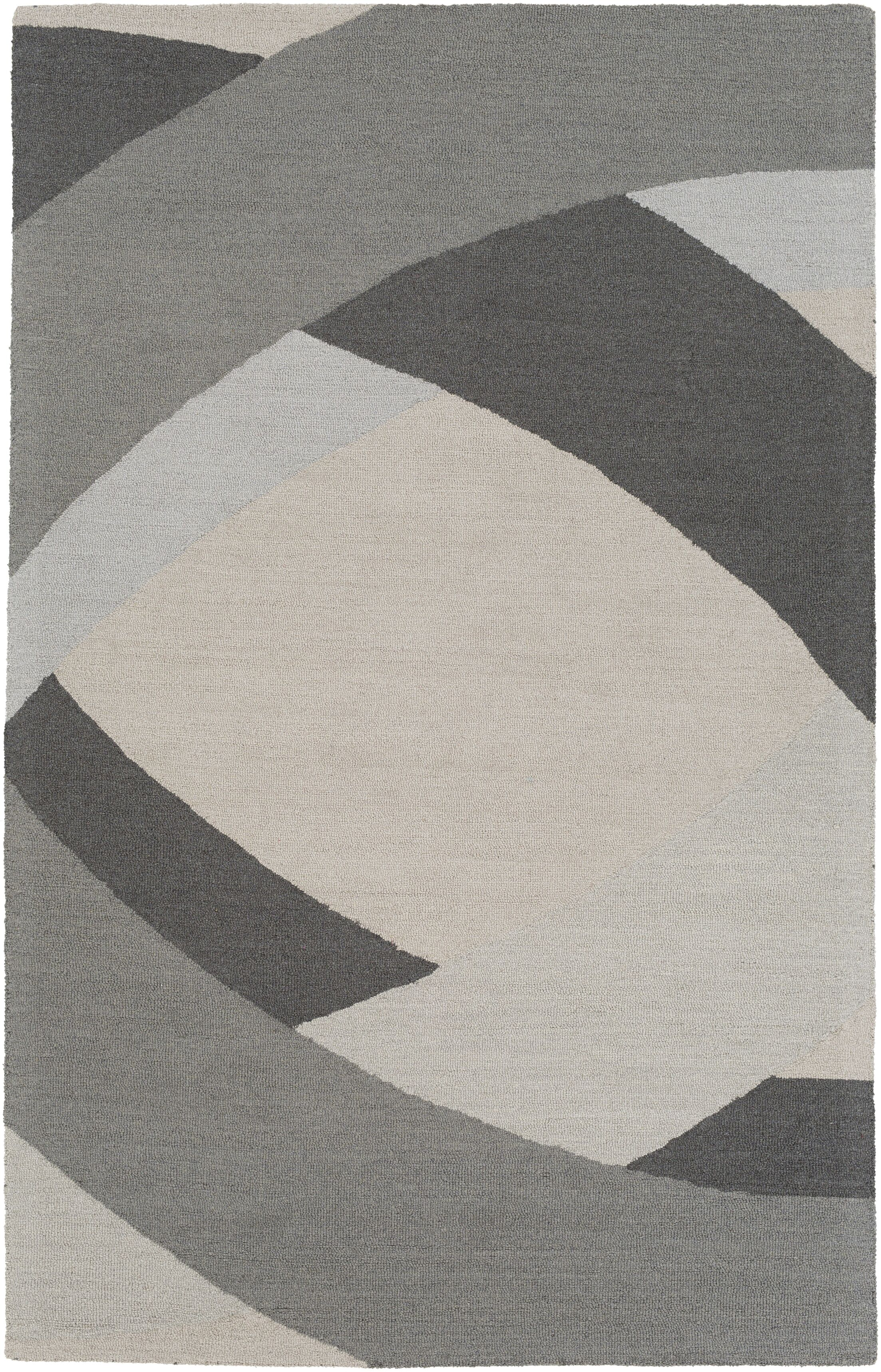 Oswaldo Hand Woven Wool Gray/Light Blue Area Rug Rug Size: Rectangle 8' x 10'