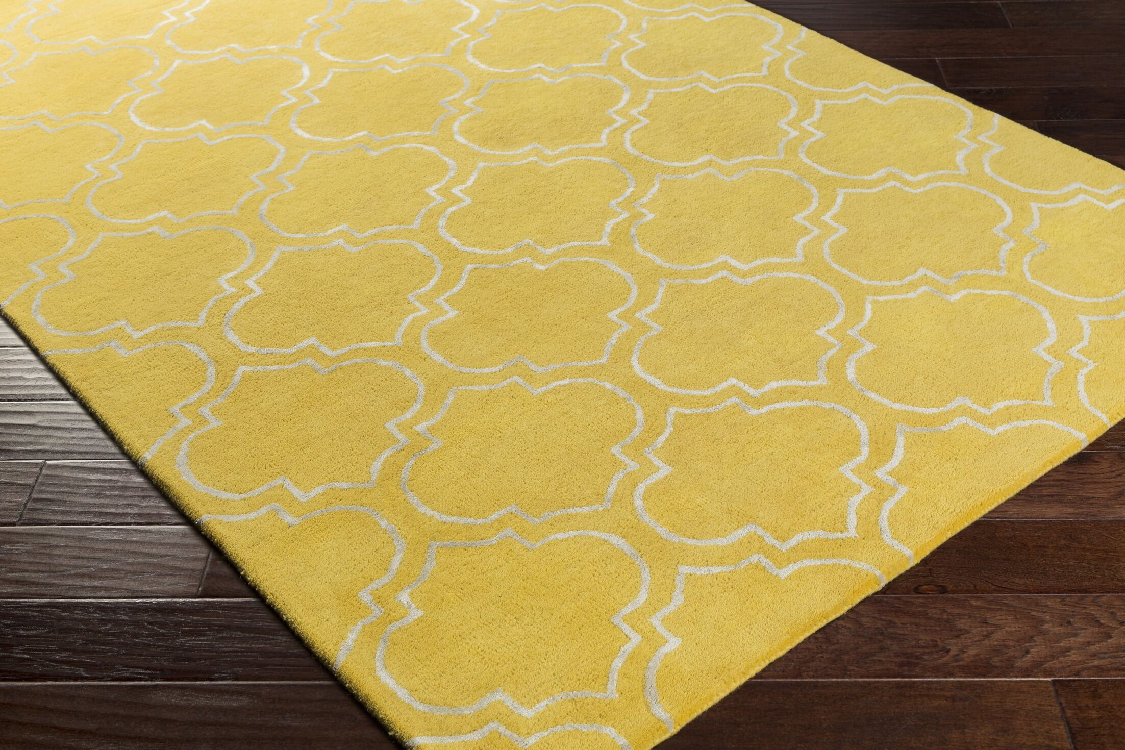 Shandi Hand-Tufted Yellow Area Rug Rug Size: Runner 2'3