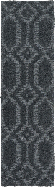 Brack Hand-Loomed Denim Area Rug Rug Size: Runner 2'3