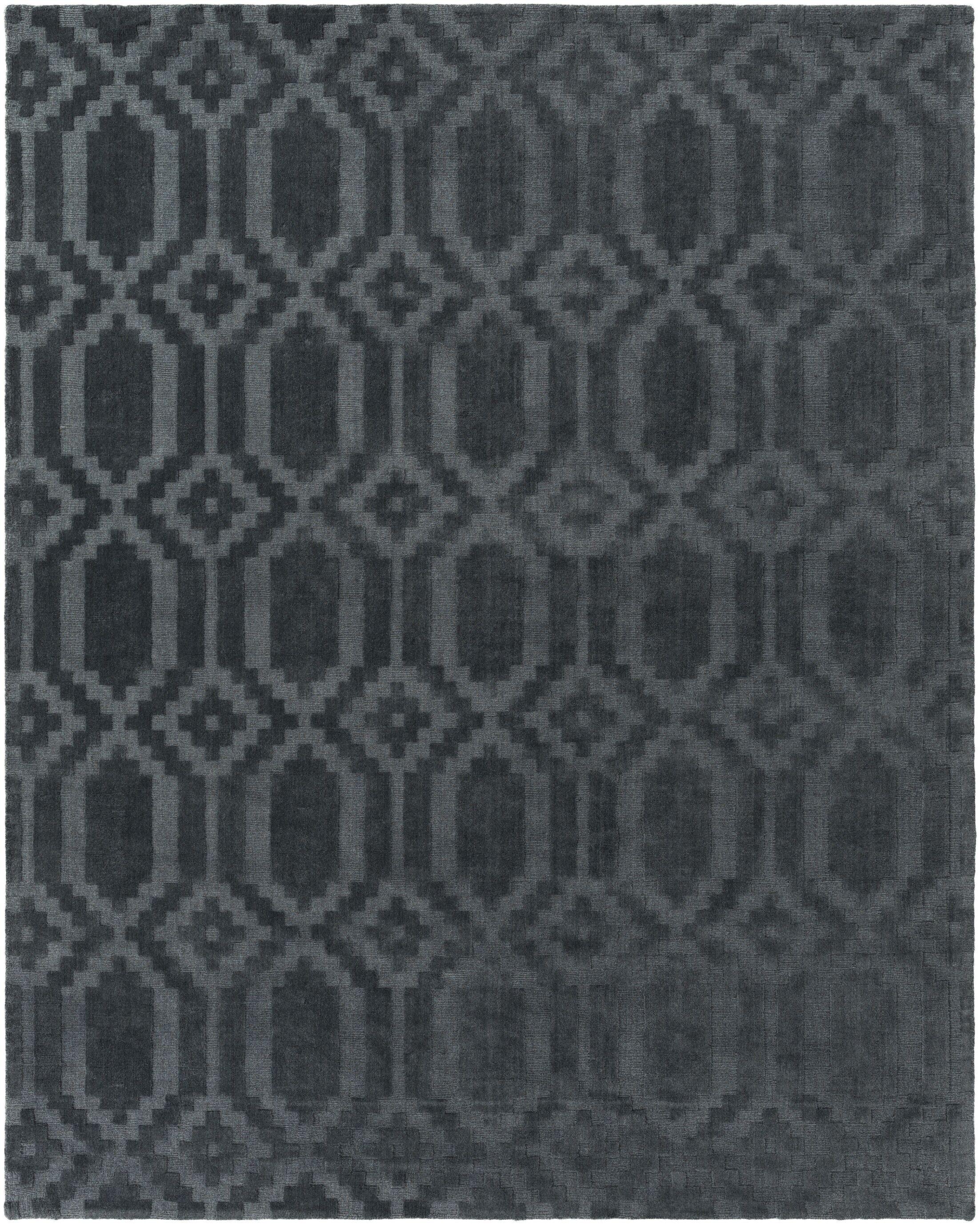 Brack Hand-Loomed Denim Area Rug Rug Size: Rectangle 6' x 9'